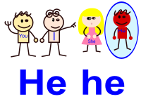"English Third Person Singular Pronoun ""He"""
