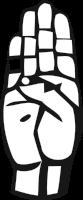 Deaf Alphabet B
