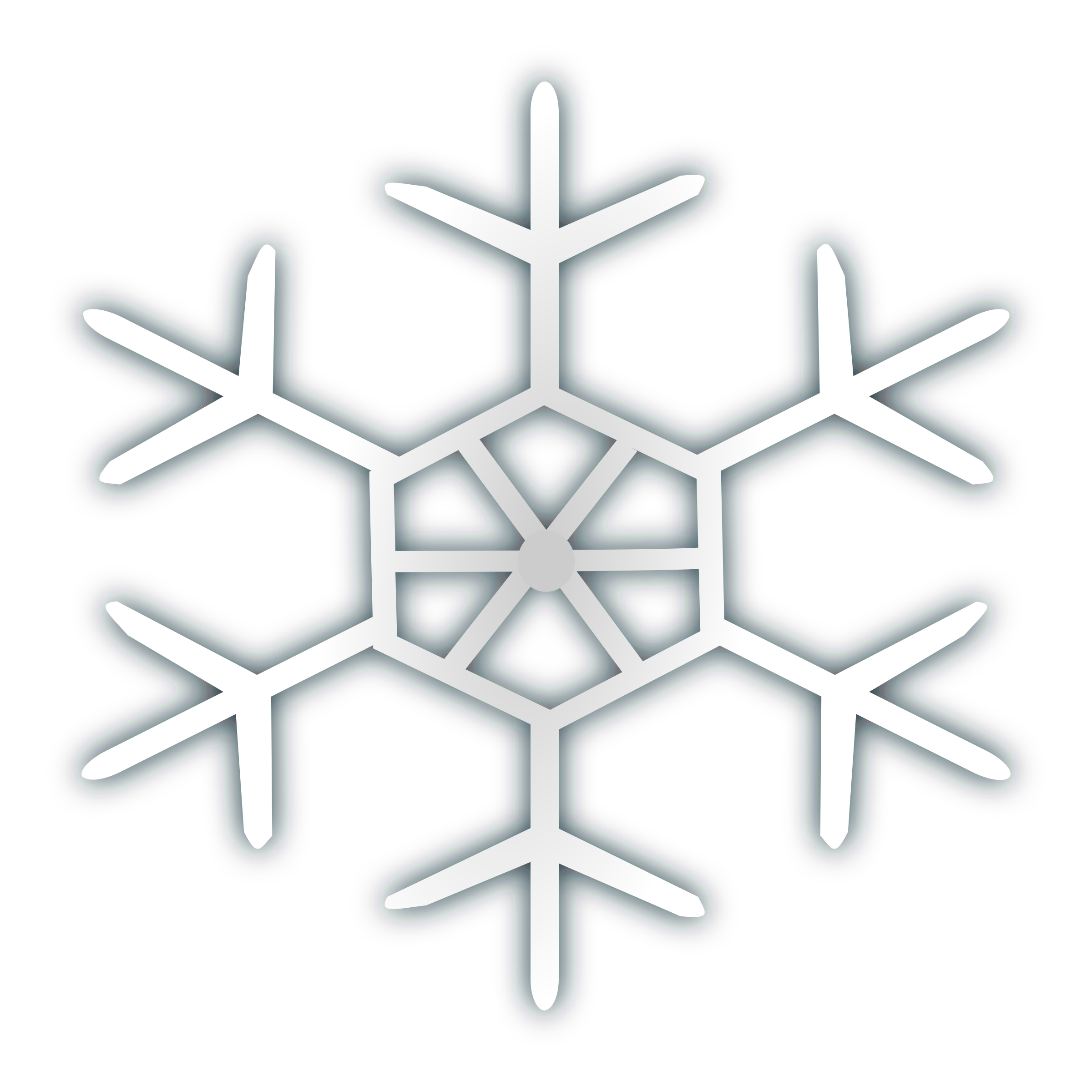 Snow flake icon 4 by netalloy