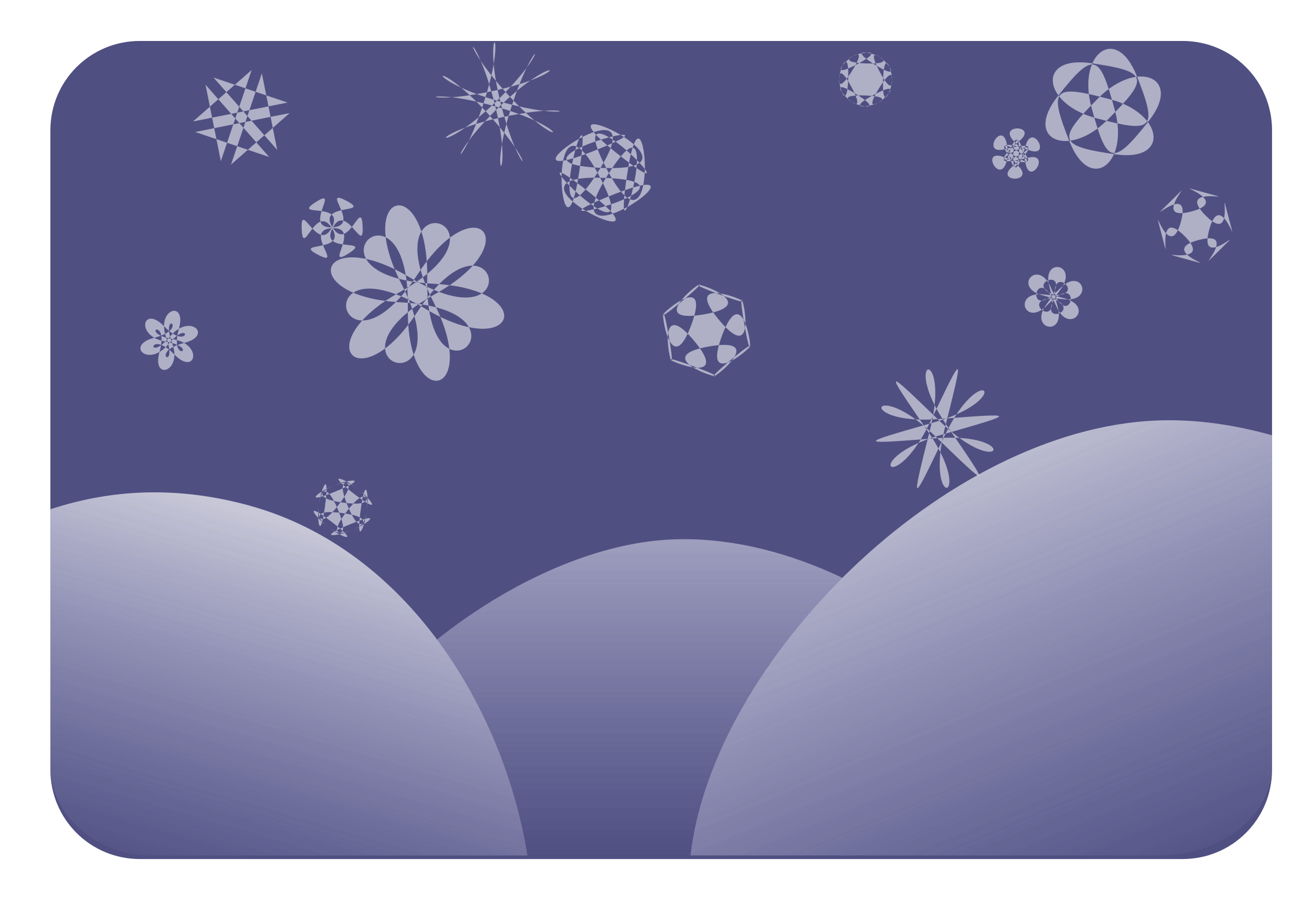 dark blue snowflakes by gem