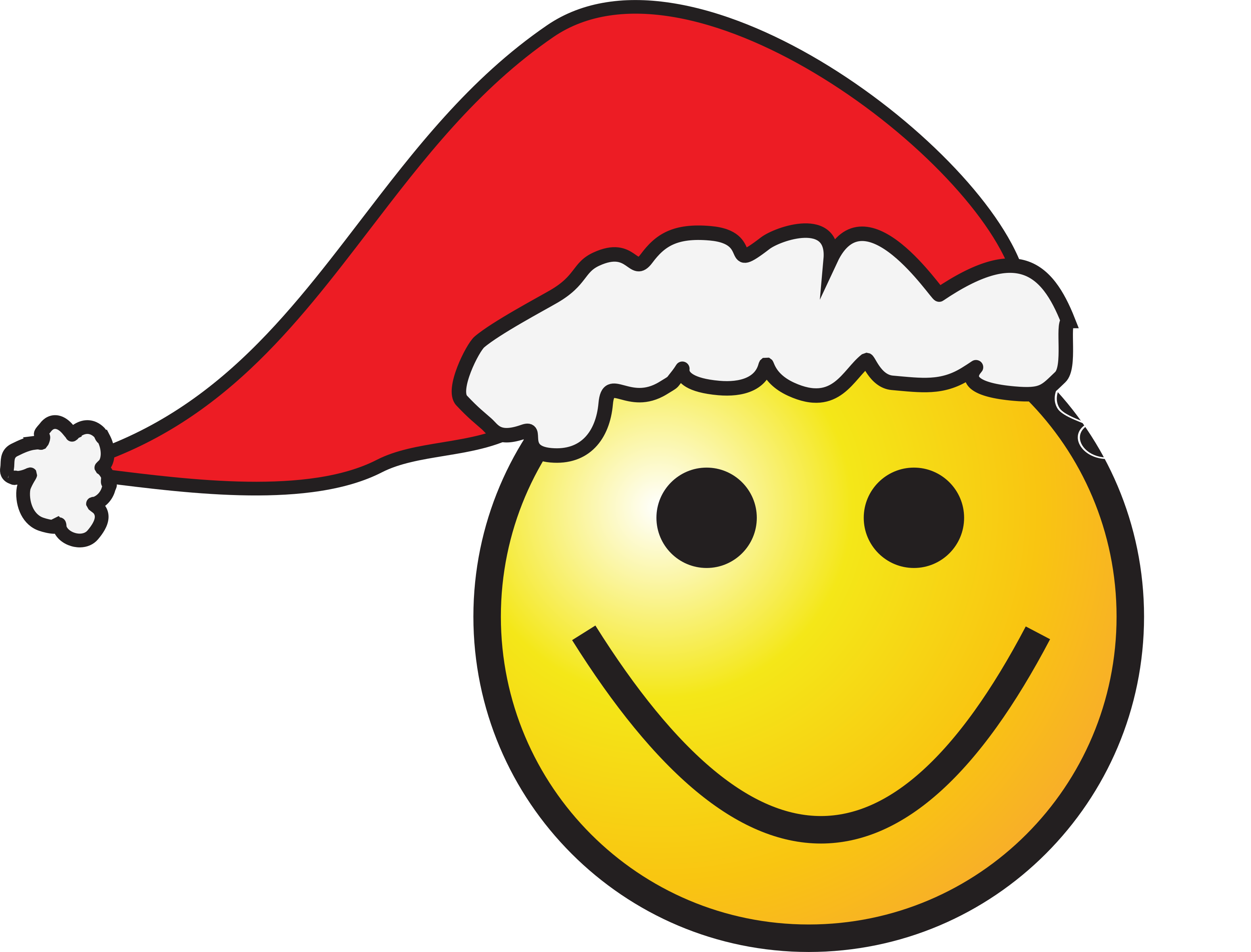 Santa-Smiley by zorro