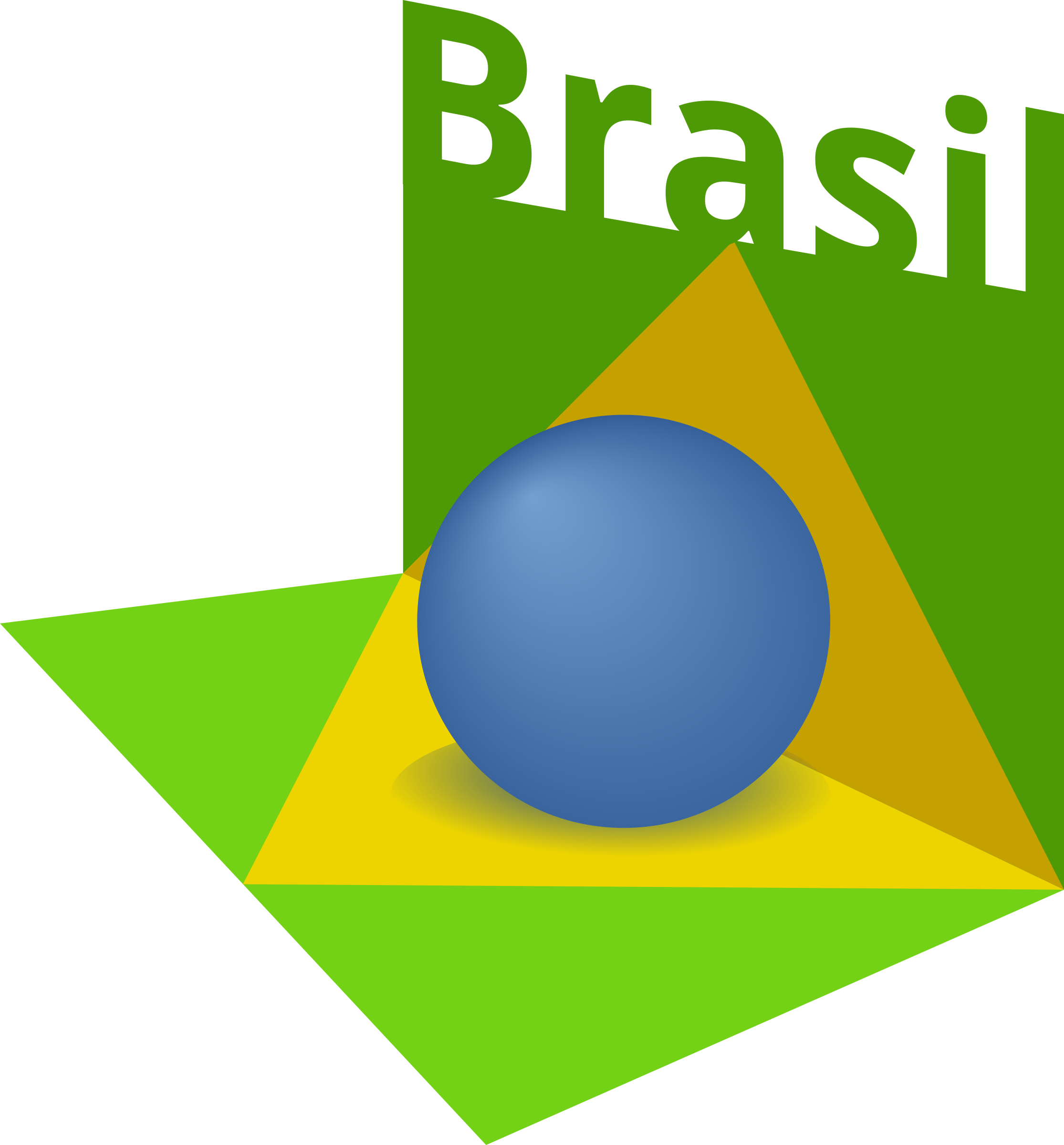 Brazil flag art 3D by valessiobrito