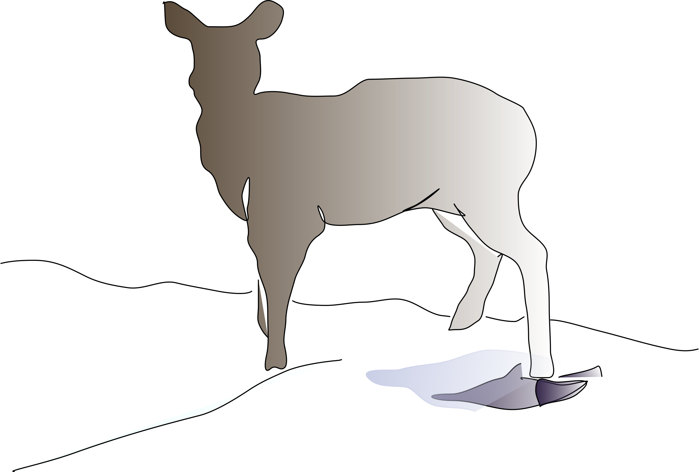 Deer Clipart by Reedabadeeda