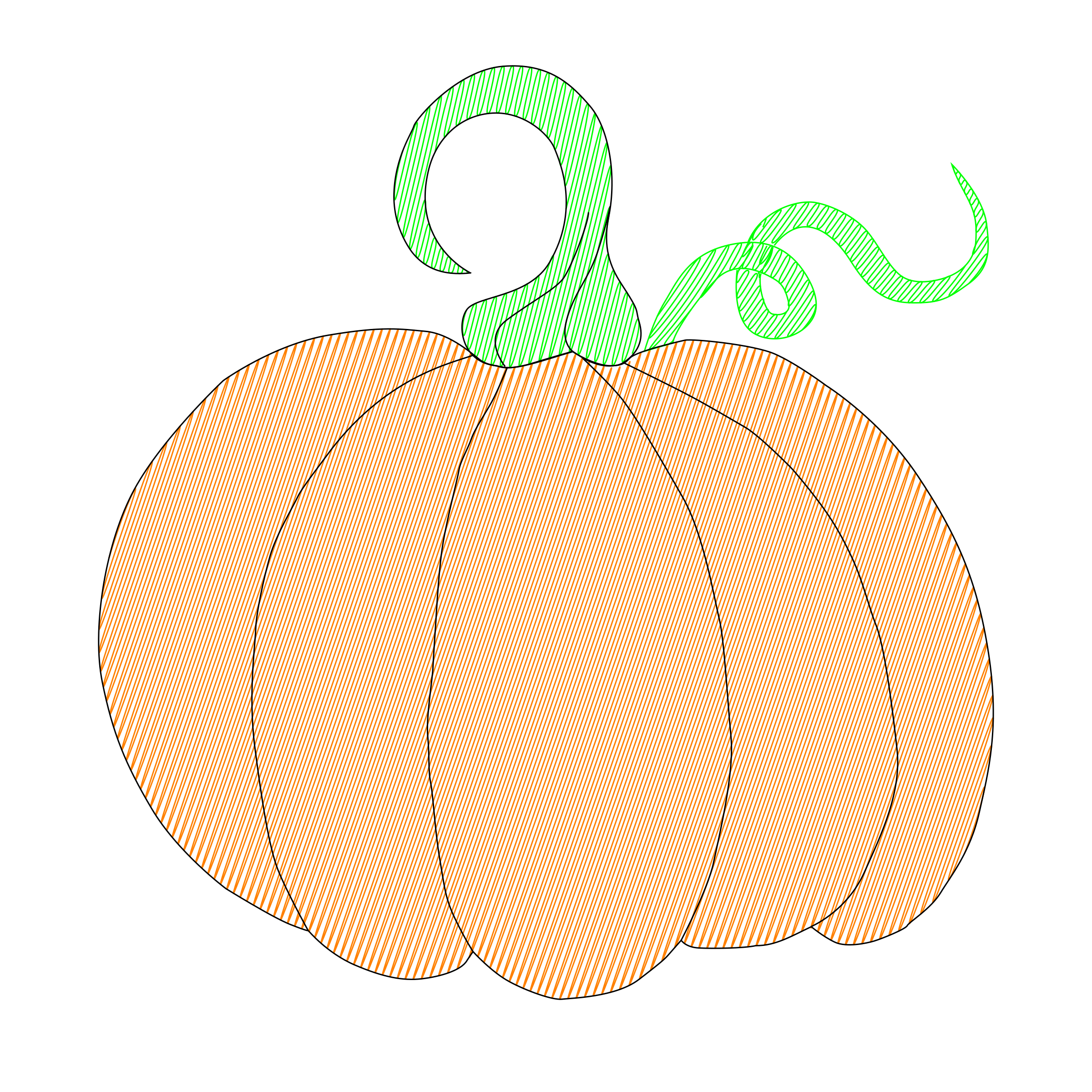 Pumpkin for EggBot by rgm