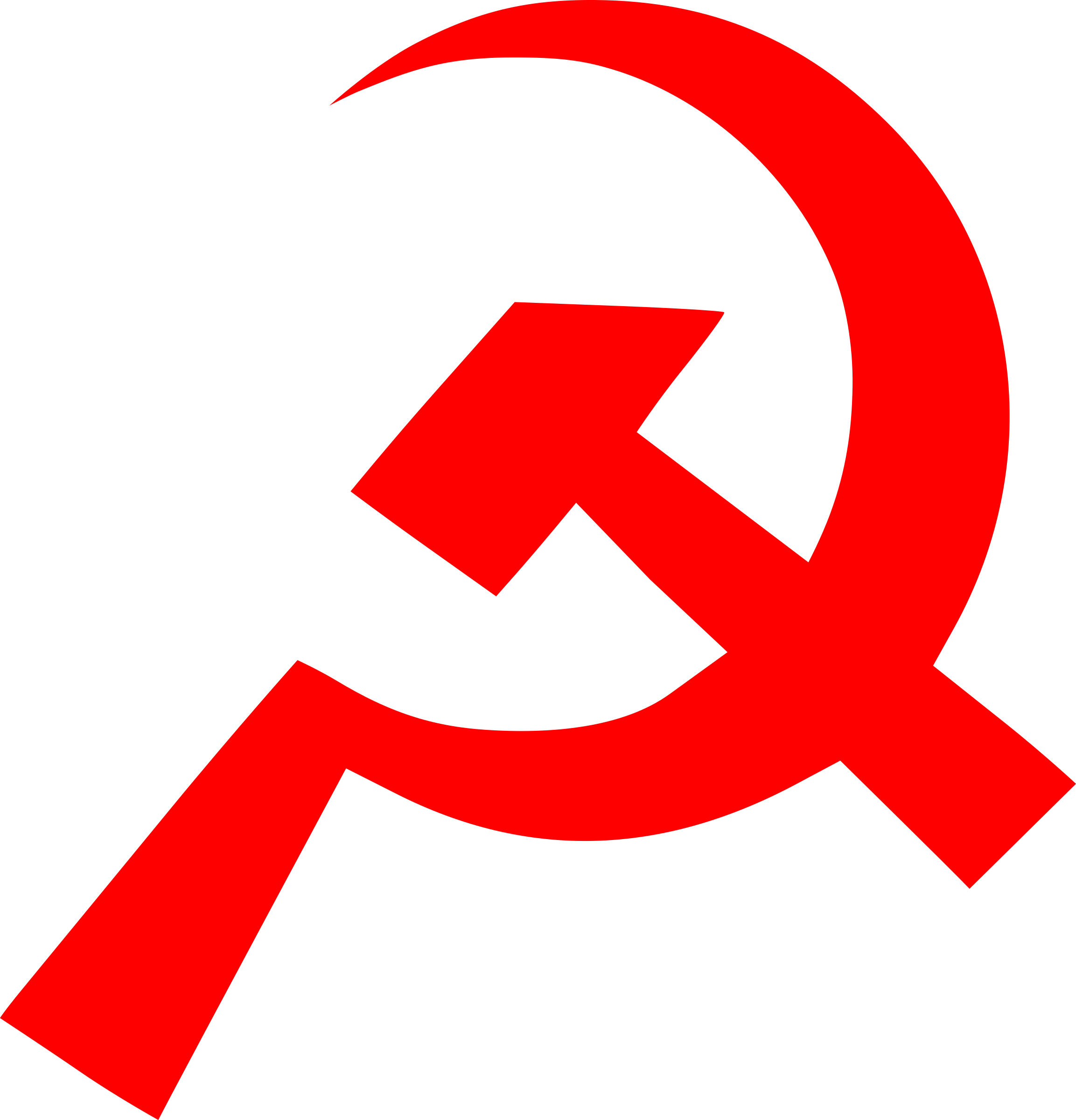 hammer and sickle by worker
