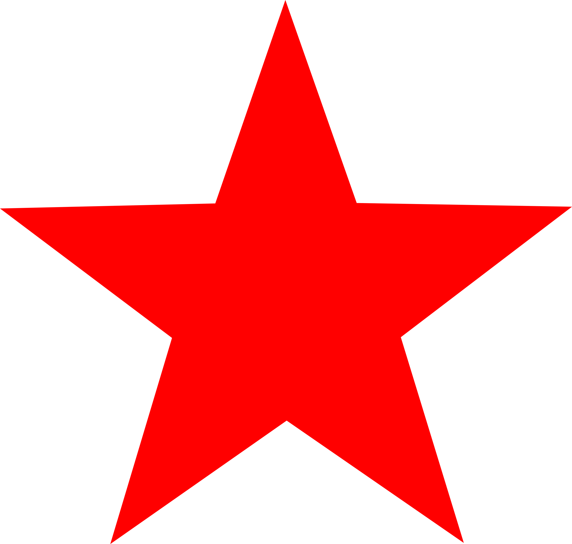 red star by worker