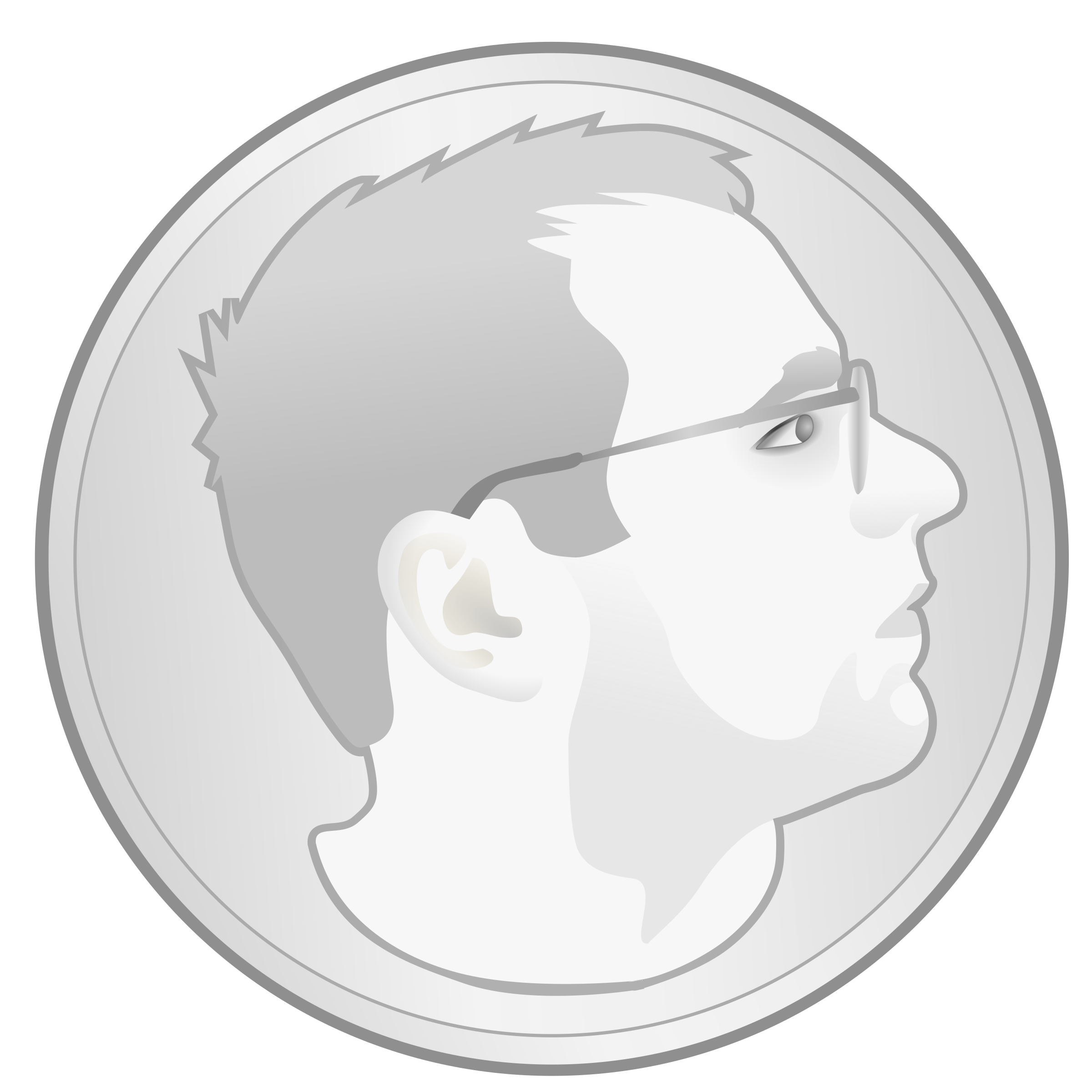 Me as a Coin by Simanek