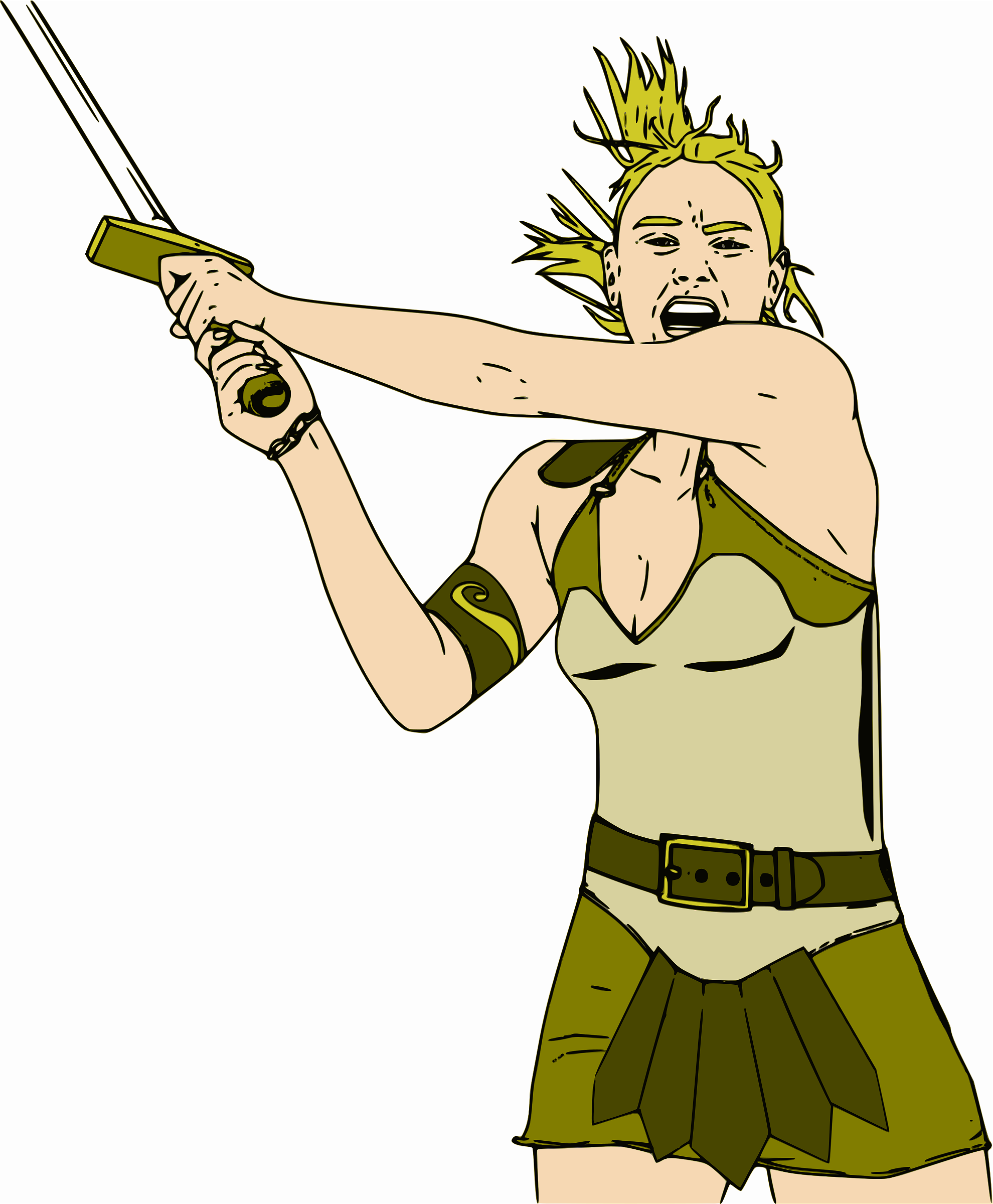 Female Warrior - Color by jpneok
