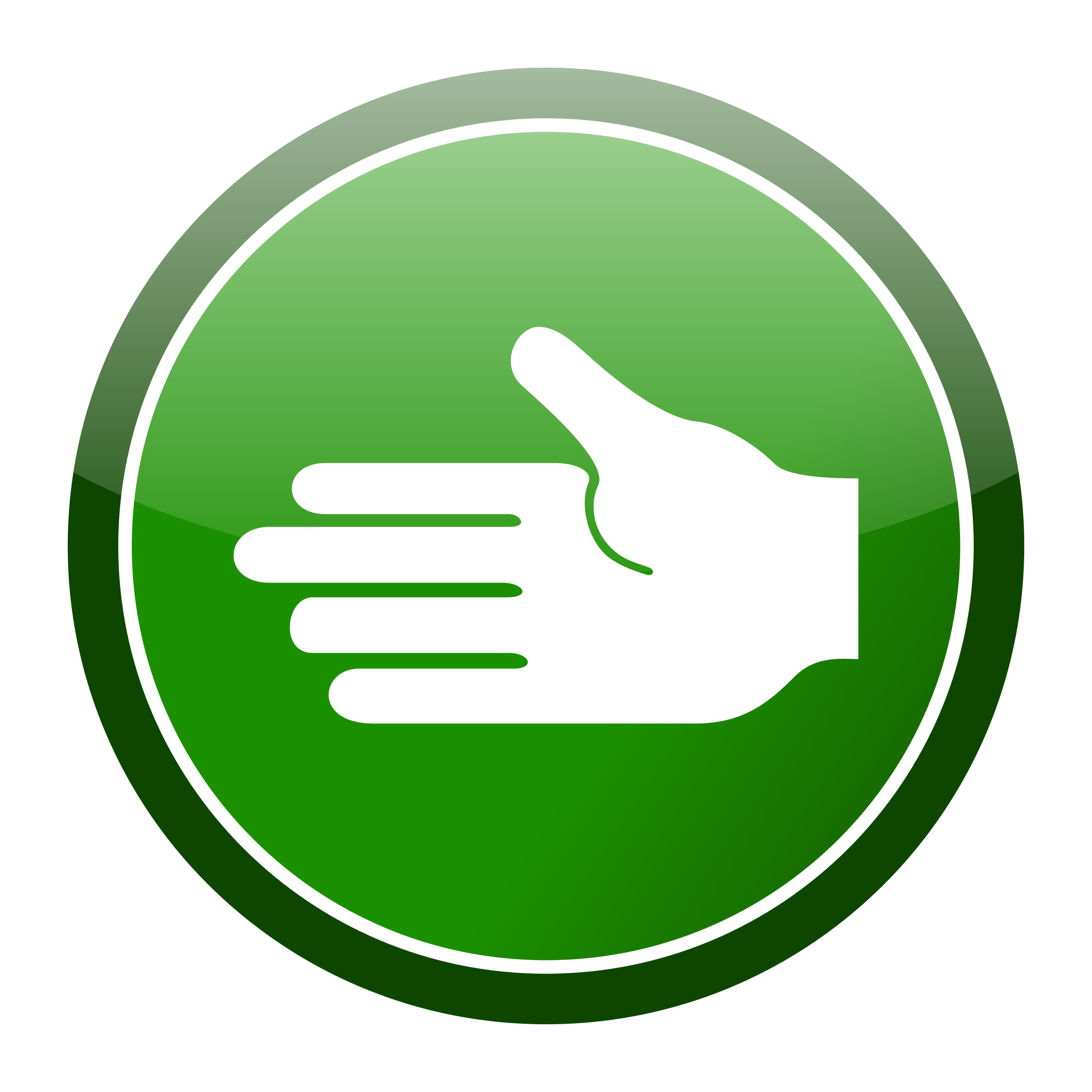 Green cirlce hand icon by kuba