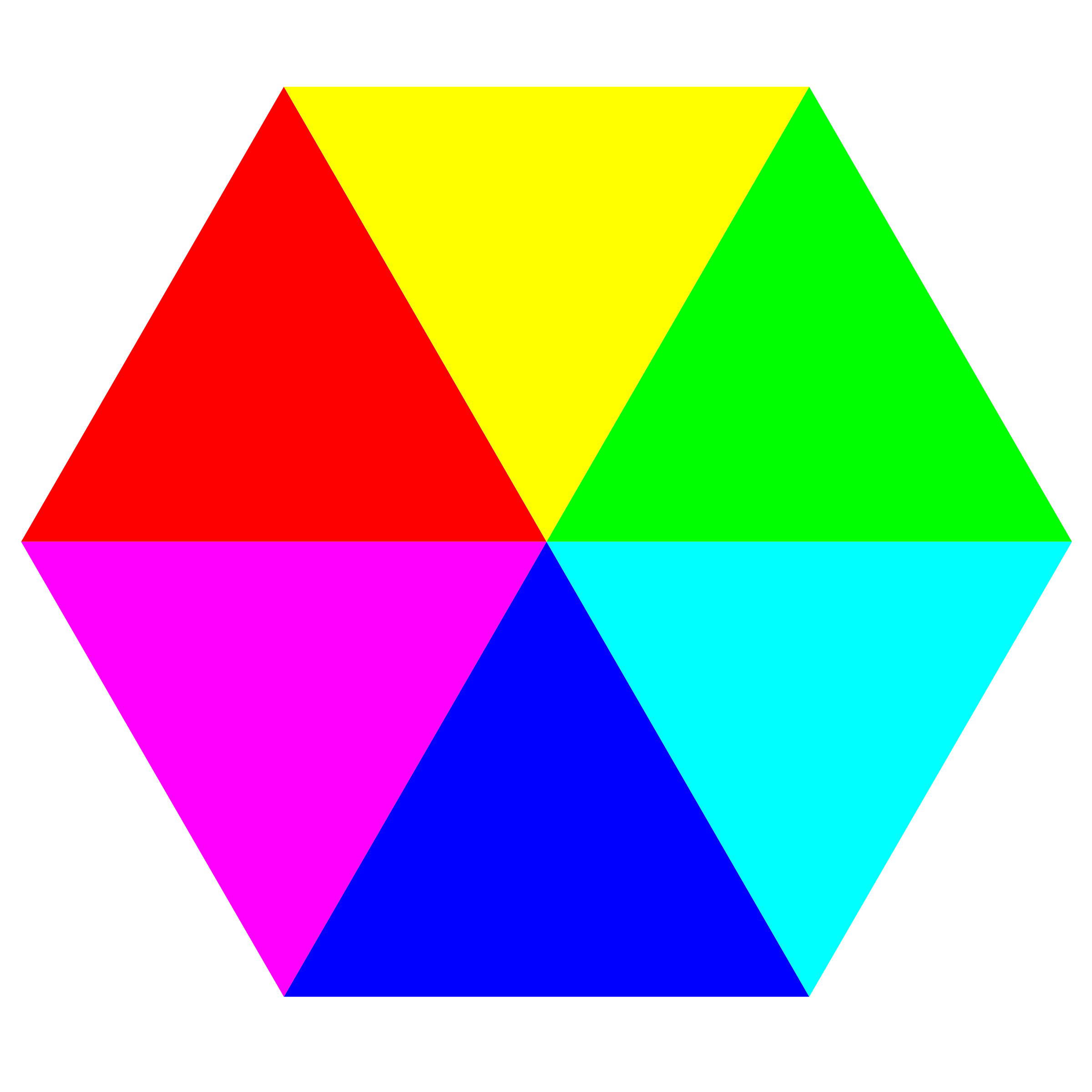 hexagon 6 color by 10binary