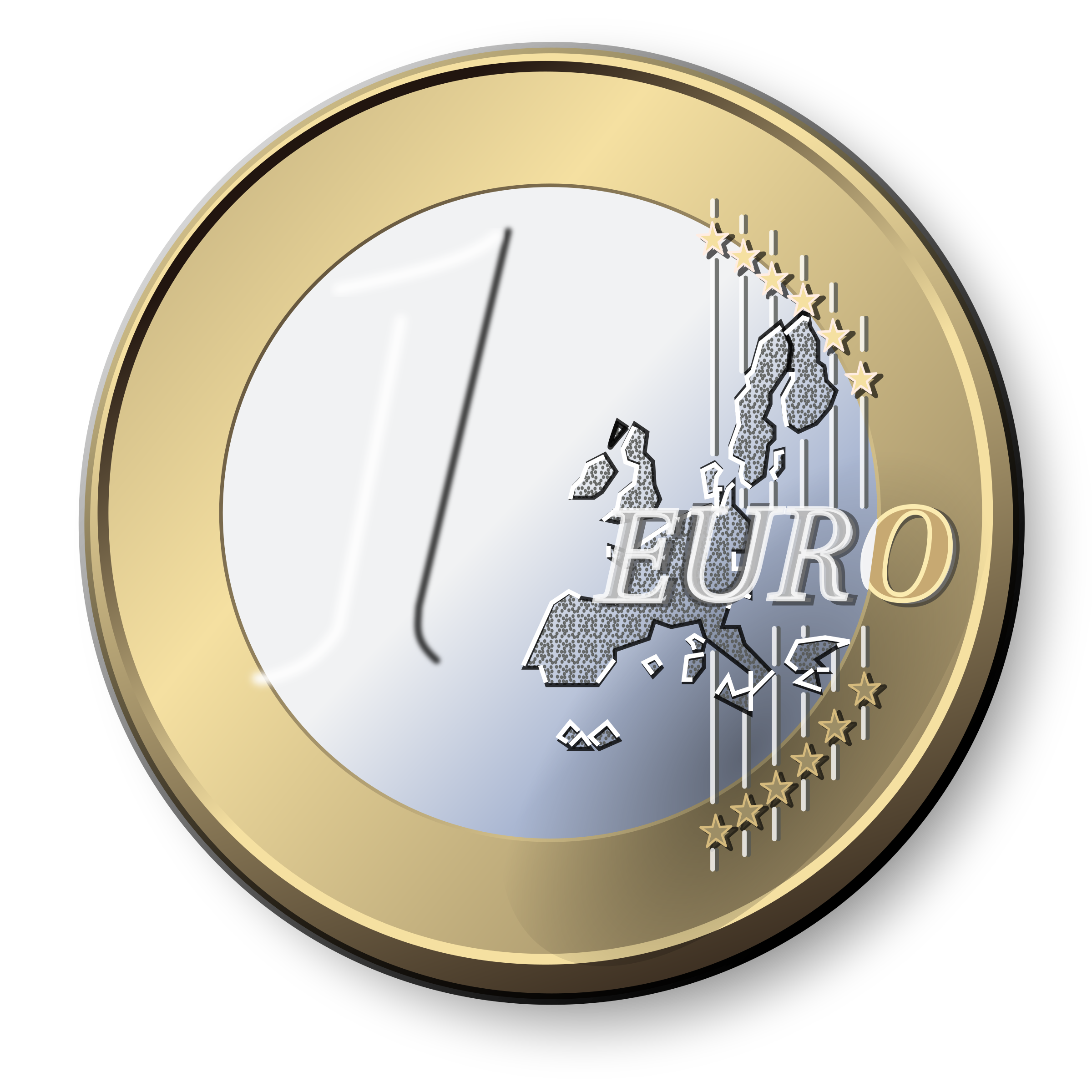 One Euro Coin by LX