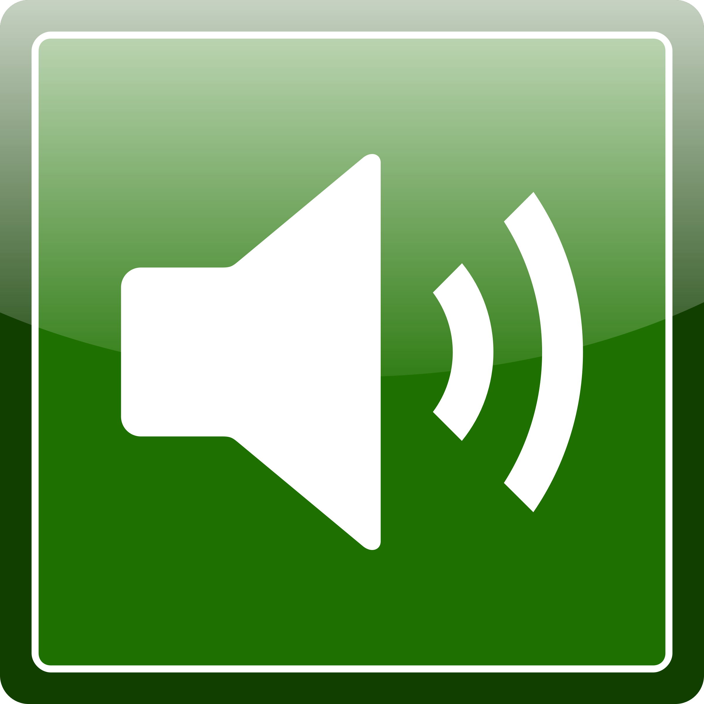 Green audio icon by kuba