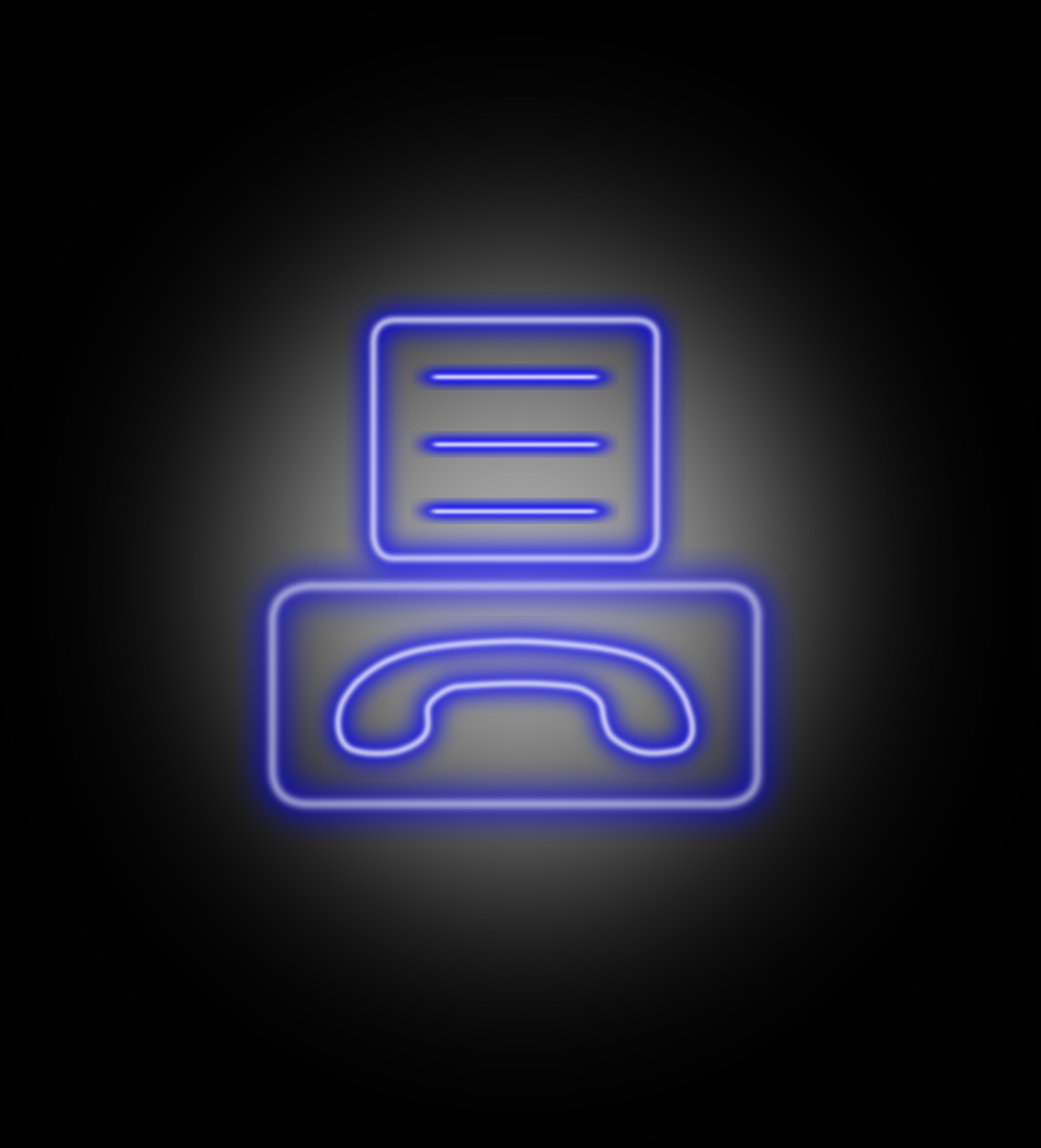 neon-fax-icon by rampa