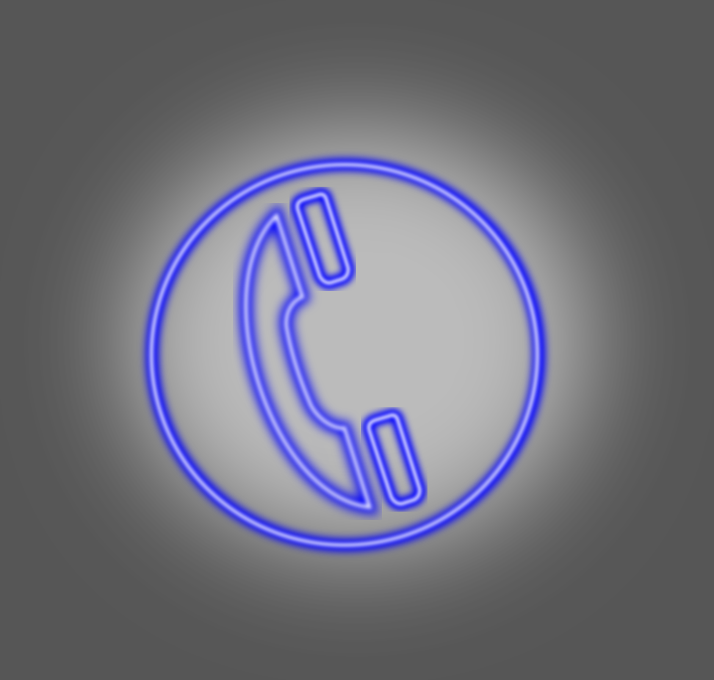Clipart Neon Phone Icon Blue