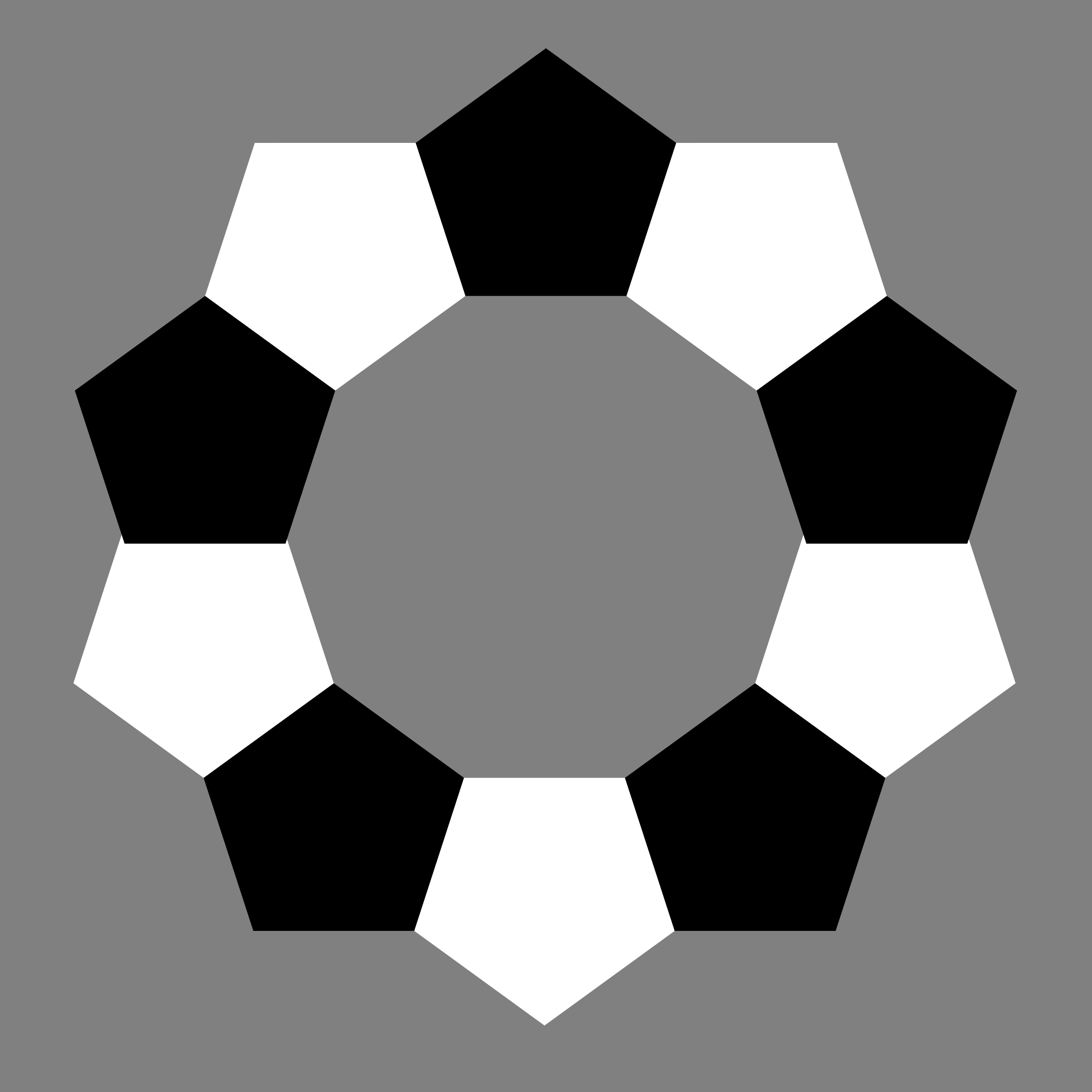 pentagons-decagram-plain by 10binary
