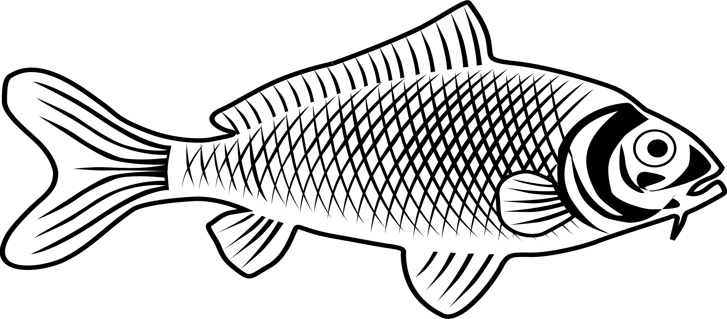 Line Art House Png : Clipart fish