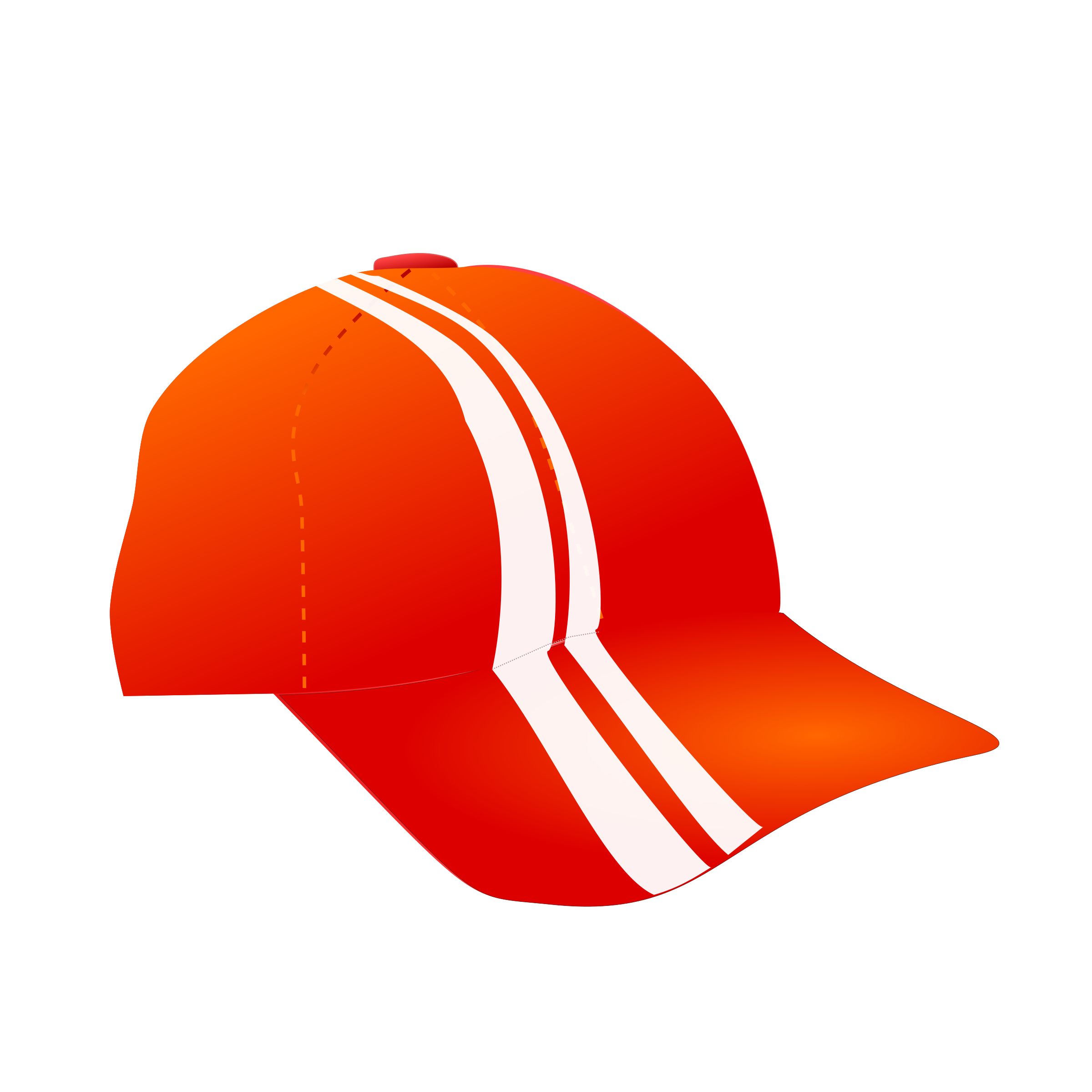 cap with racing stripes by netalloy