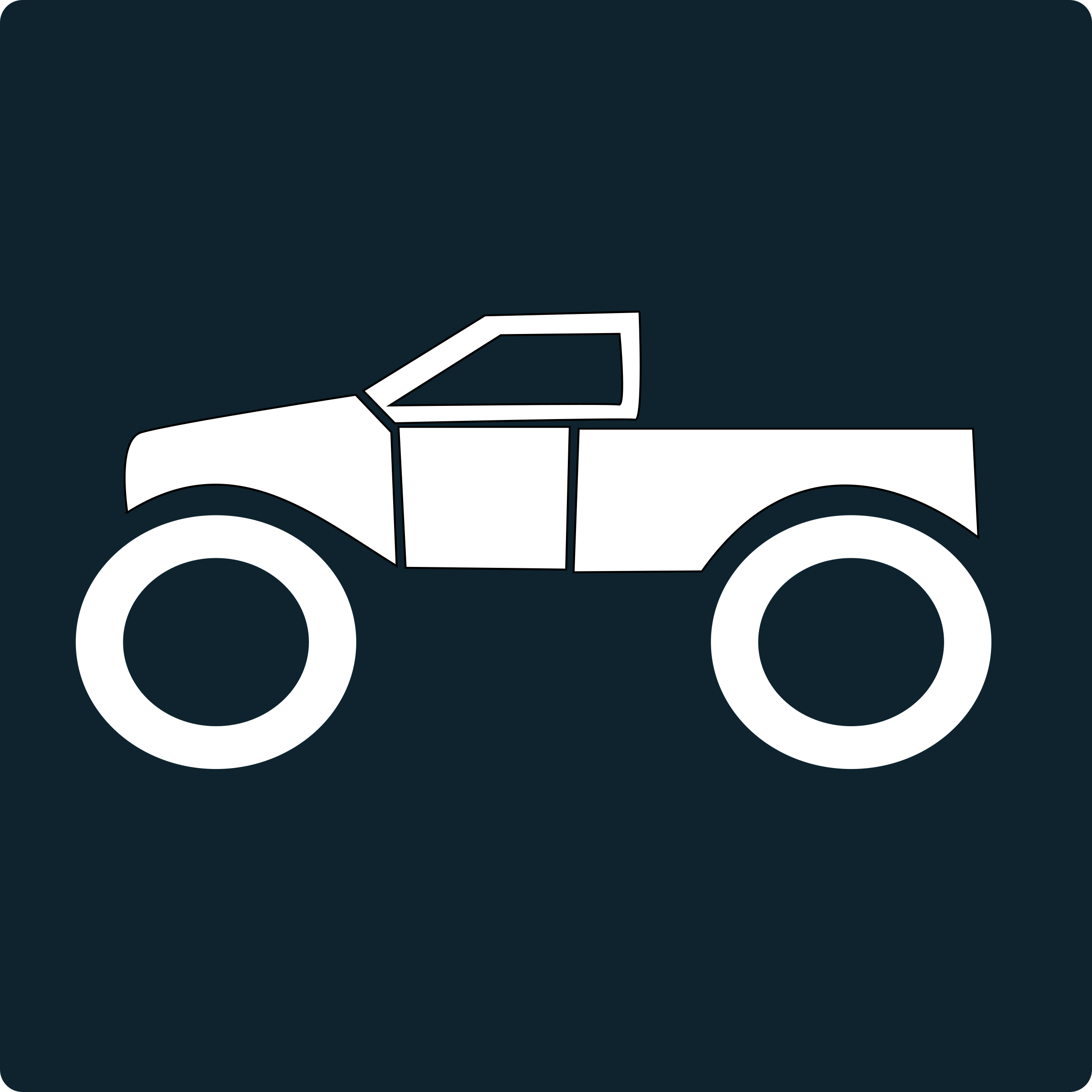 monster truck icon by netalloy