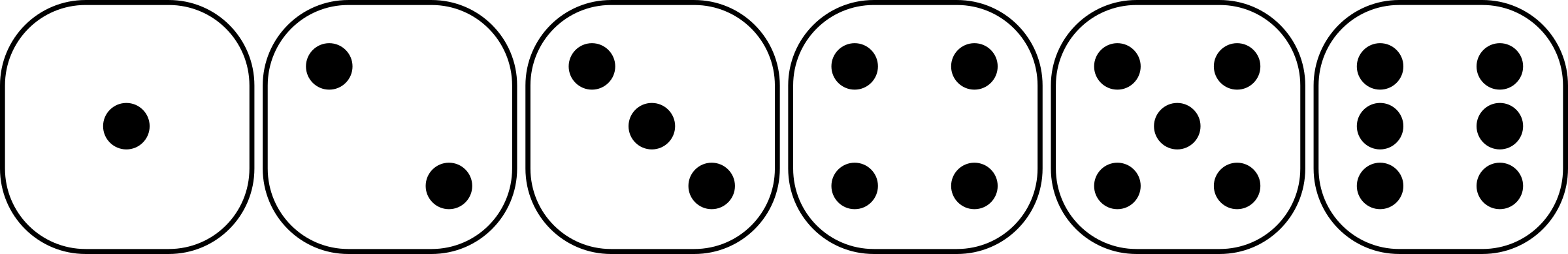 six-sided dice faces lio 01 by Anonymous