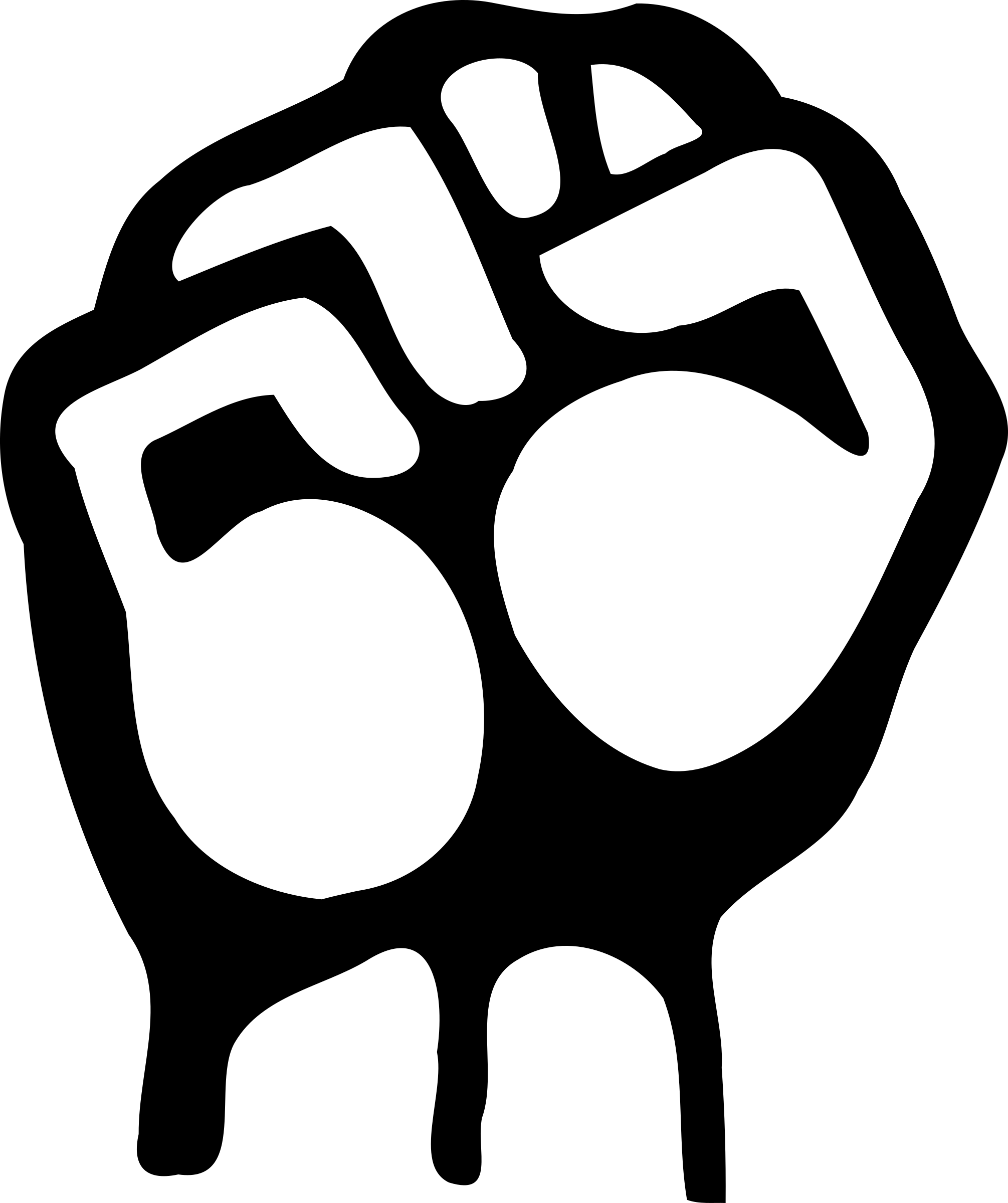 Raised fist by liftarn