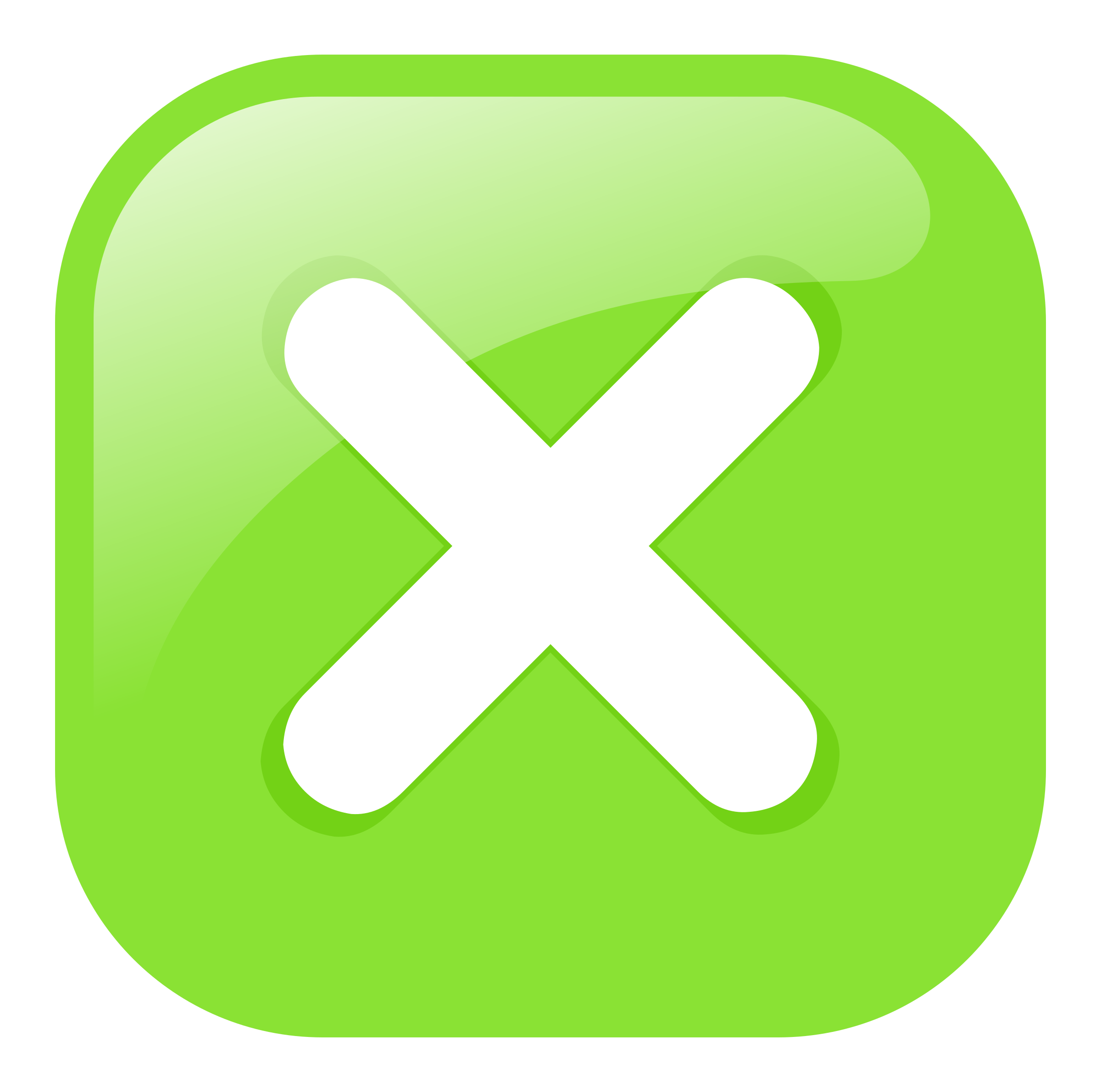green square submit icon by molumen