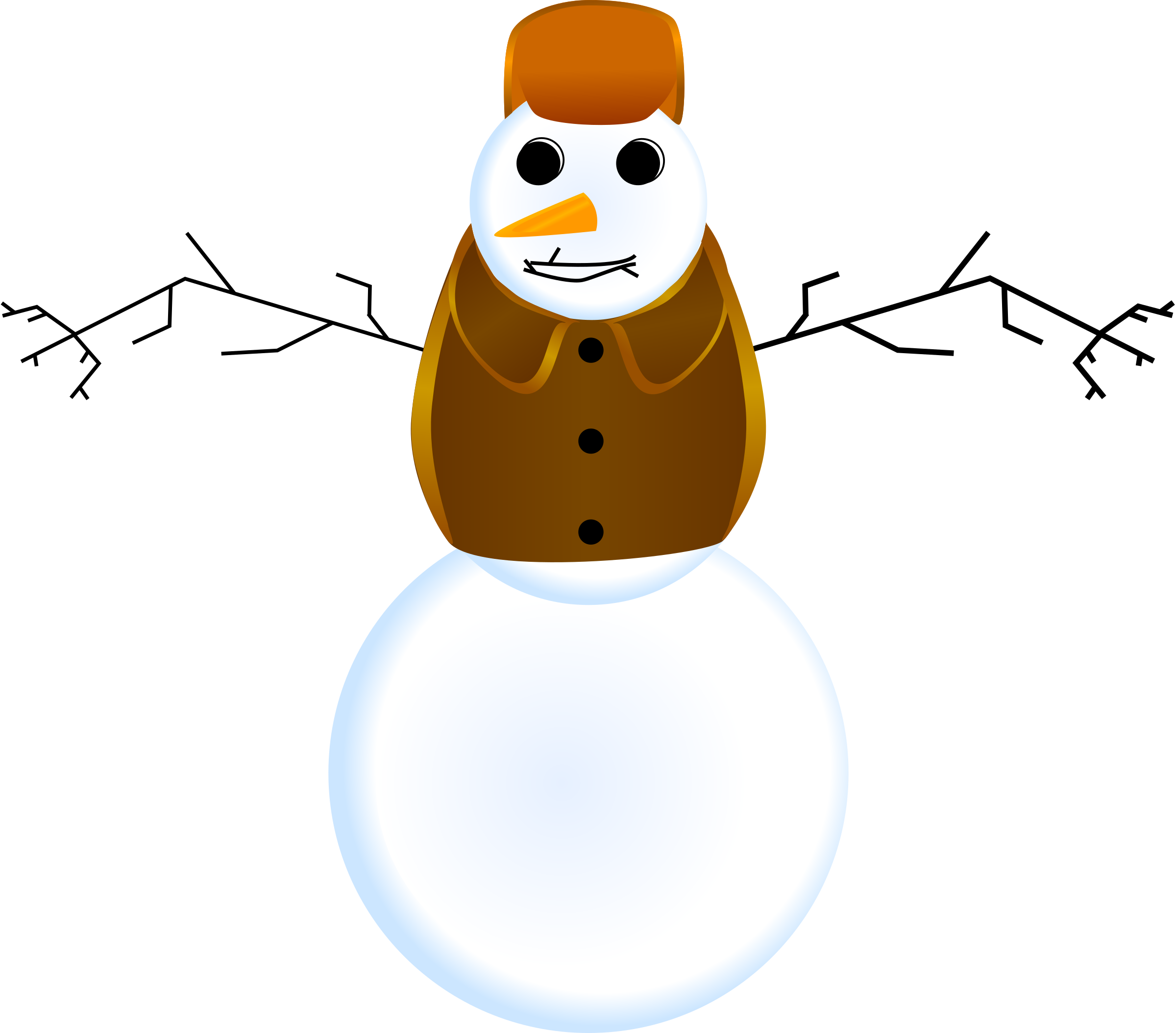 Snowman with clothes by LiquidSnake