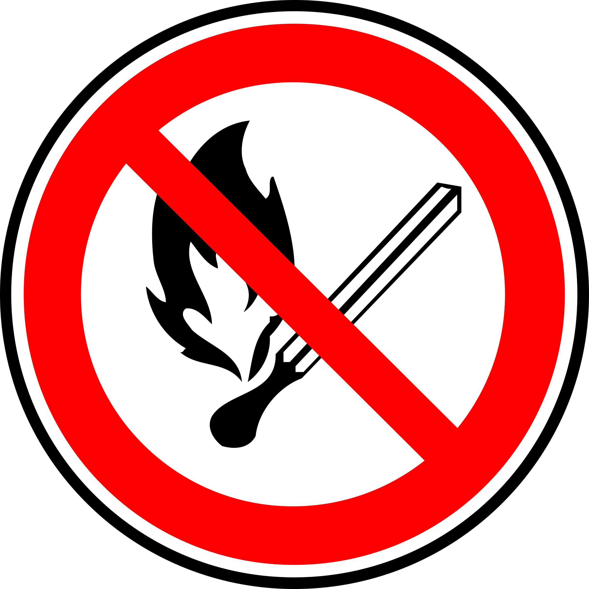 Fire forbidden sign by yves_guillou