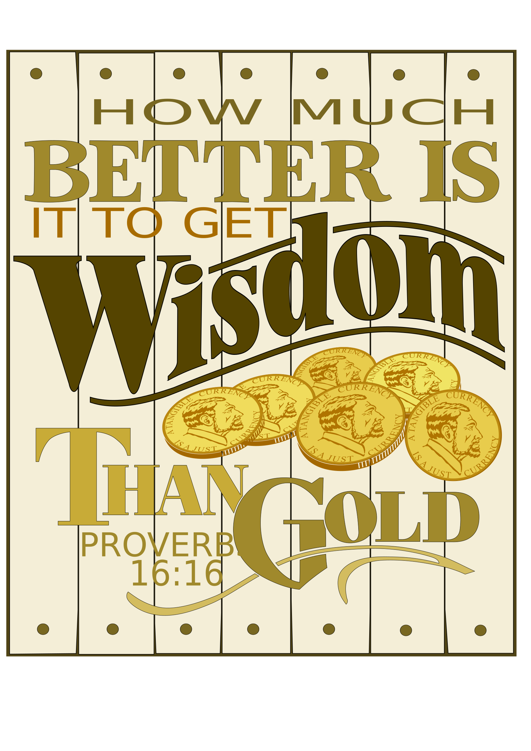 Wisdom Proverbs 16 for plotters by Raker Tooth