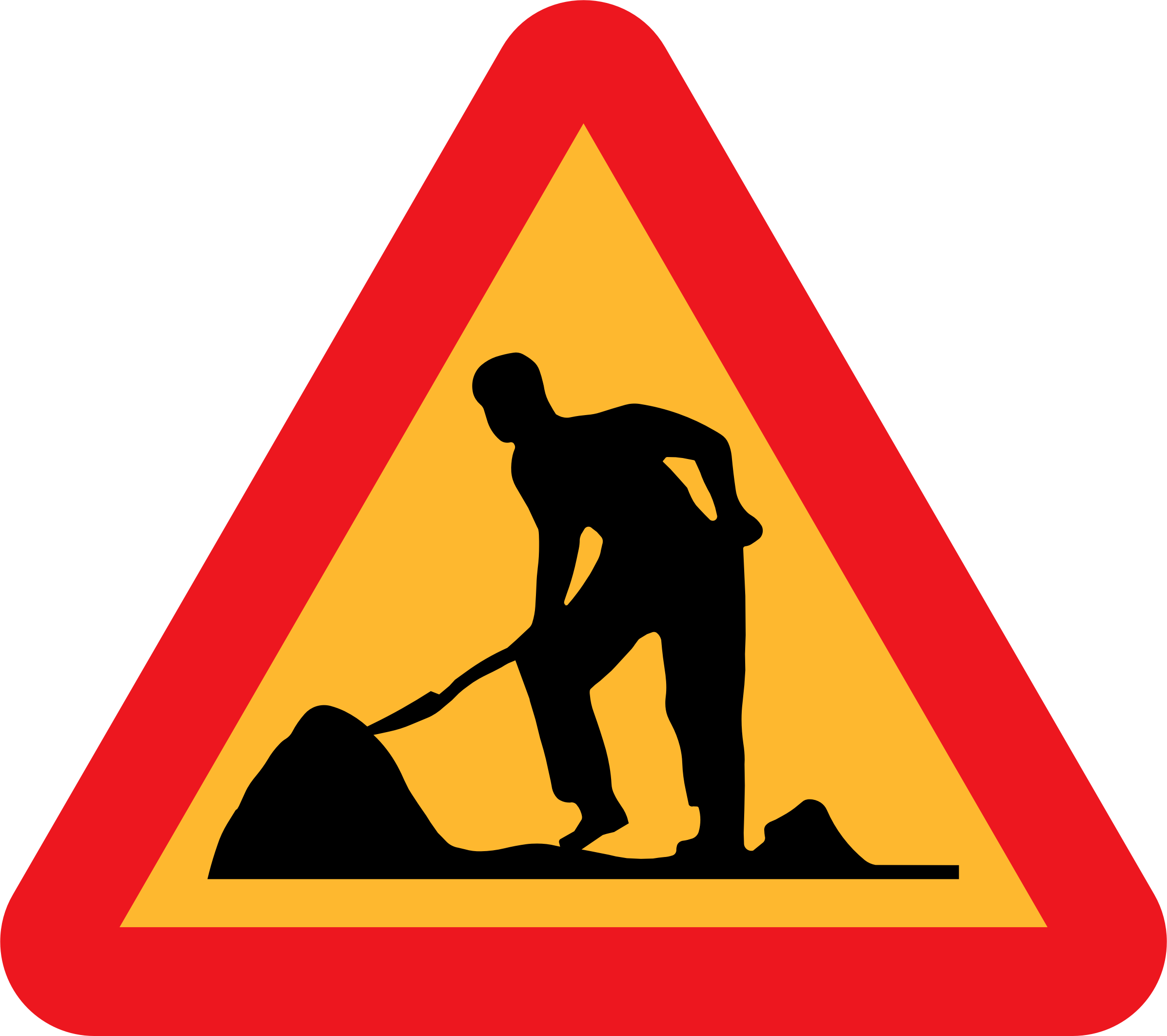 Workman Ahead Roadsign by ryanlerch