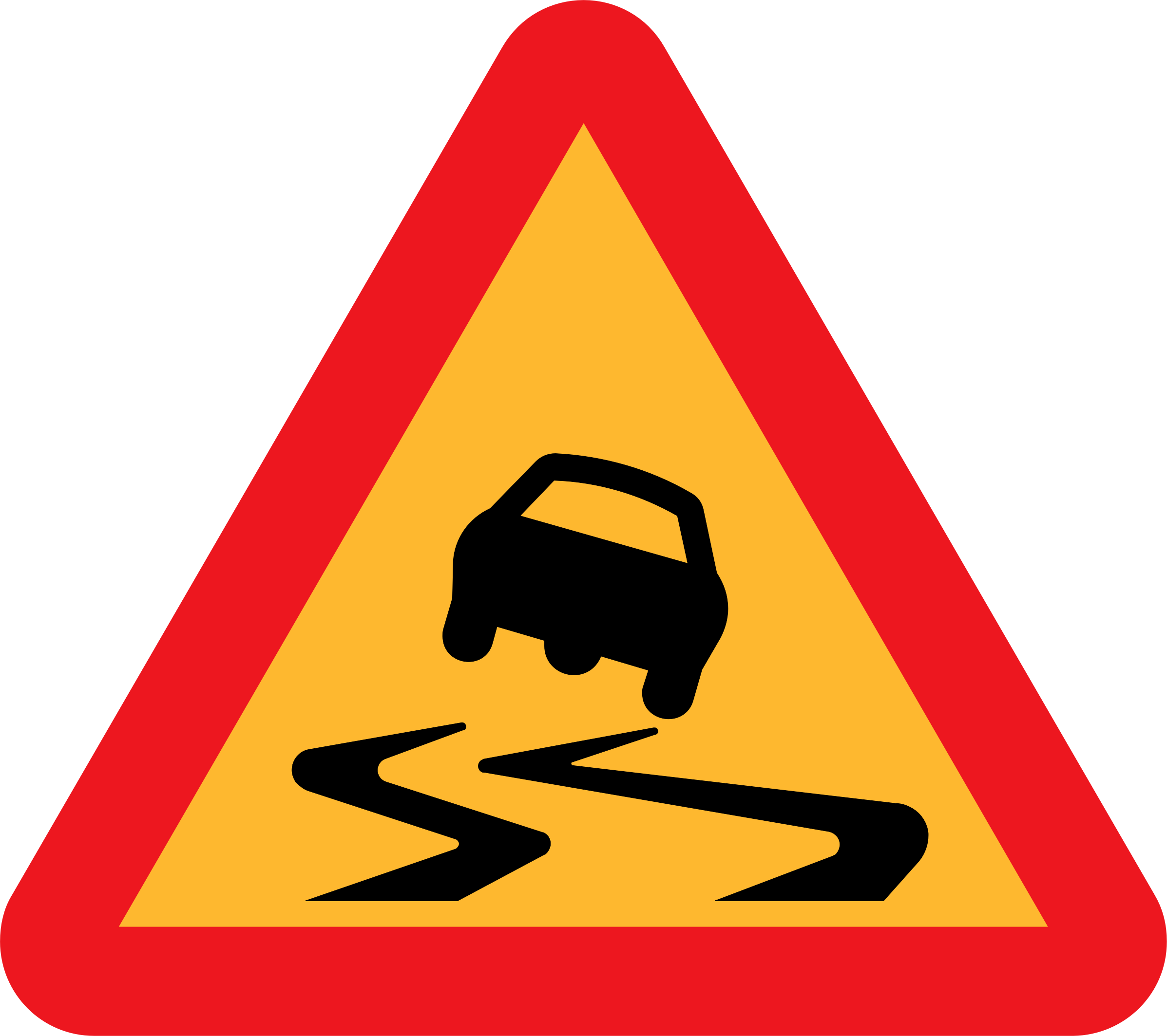 Slippery Roadsign by ryanlerch