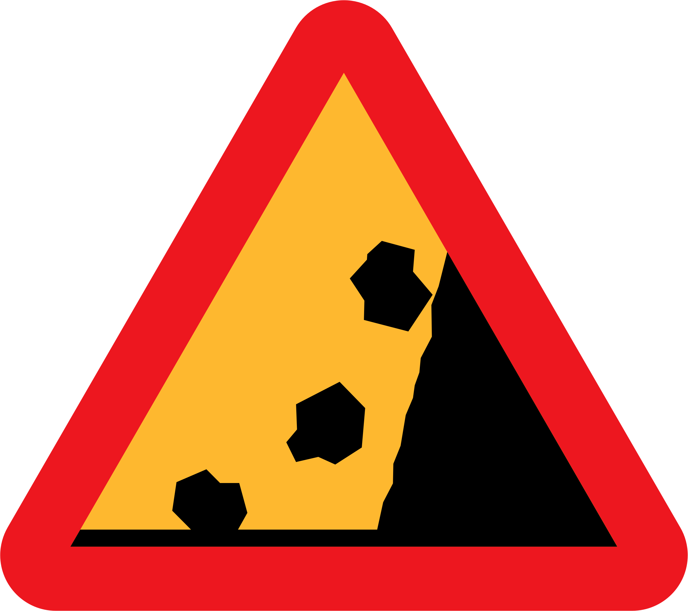 Falling Rocks from RHS roadsign by ryanlerch