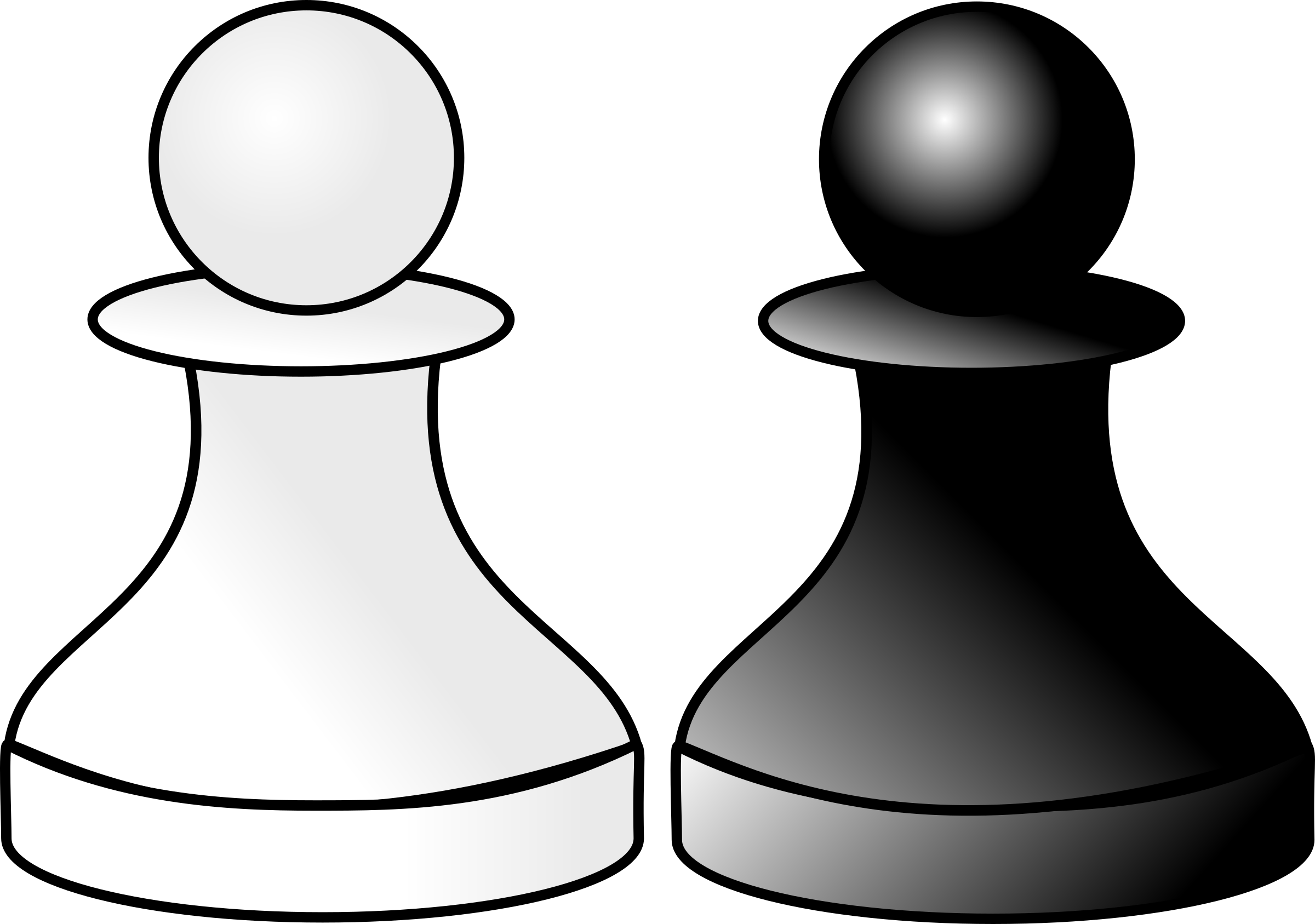 black and white pawns d r by Anonymous