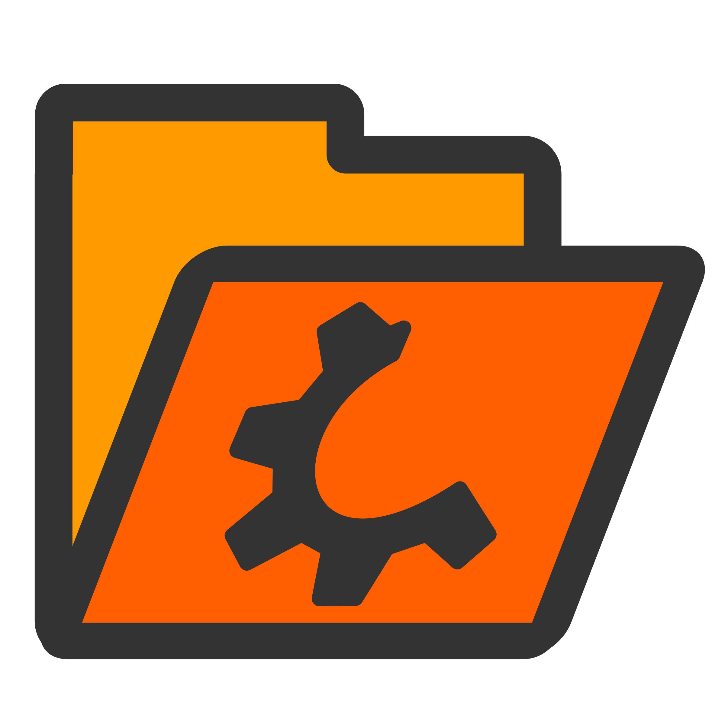 folder orange open by dannya