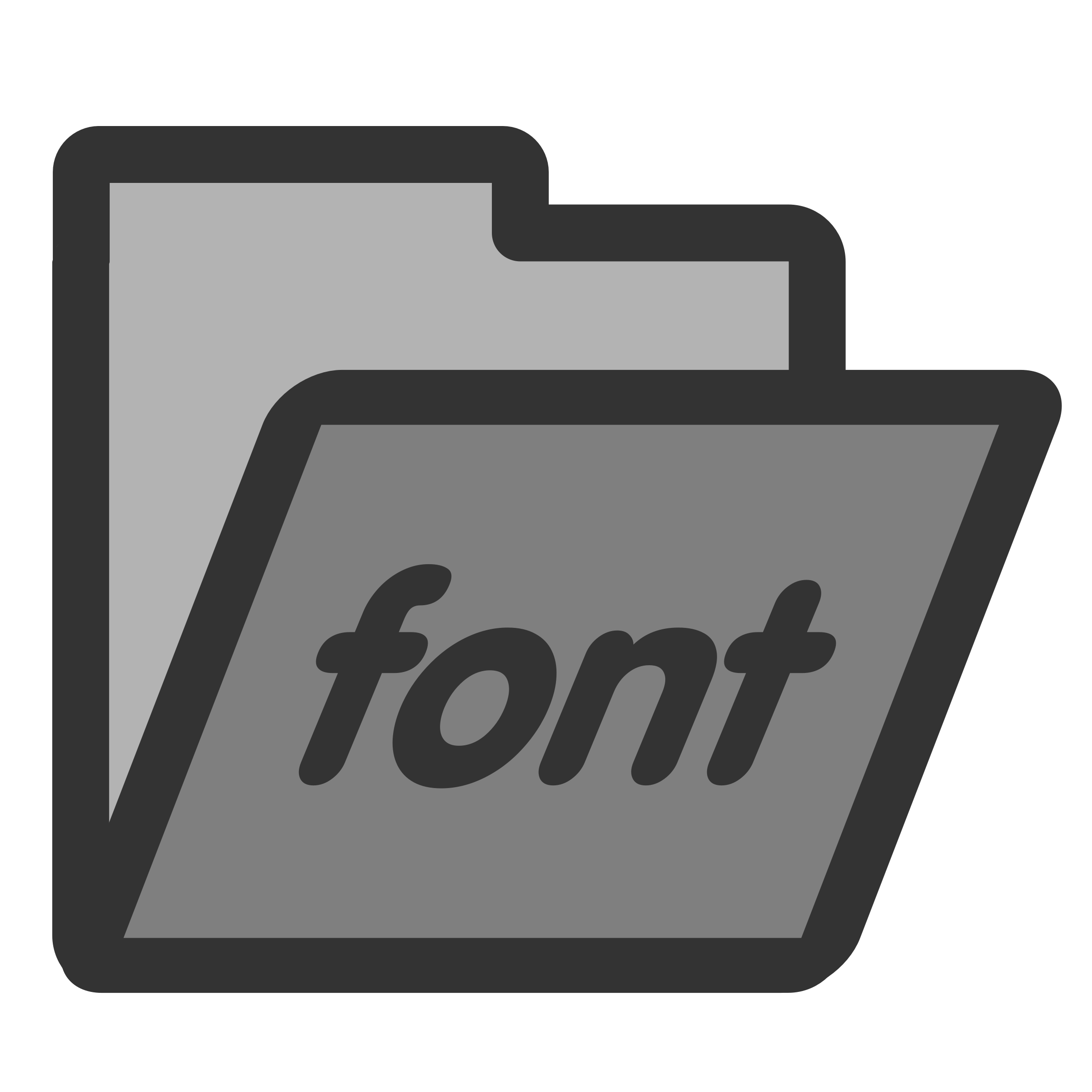 folder fonts by dannya