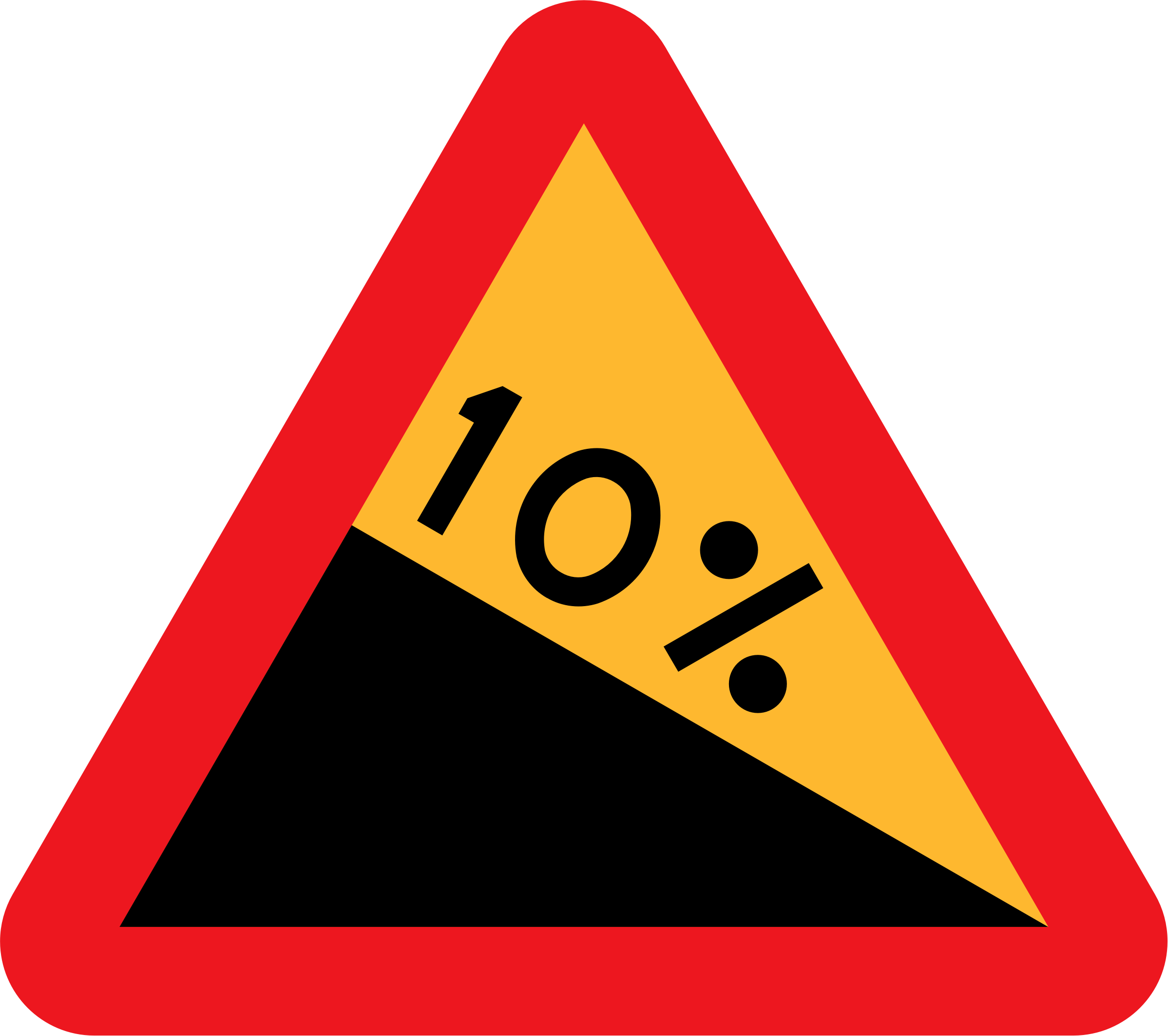10% downward gradient roadsign by ryanlerch