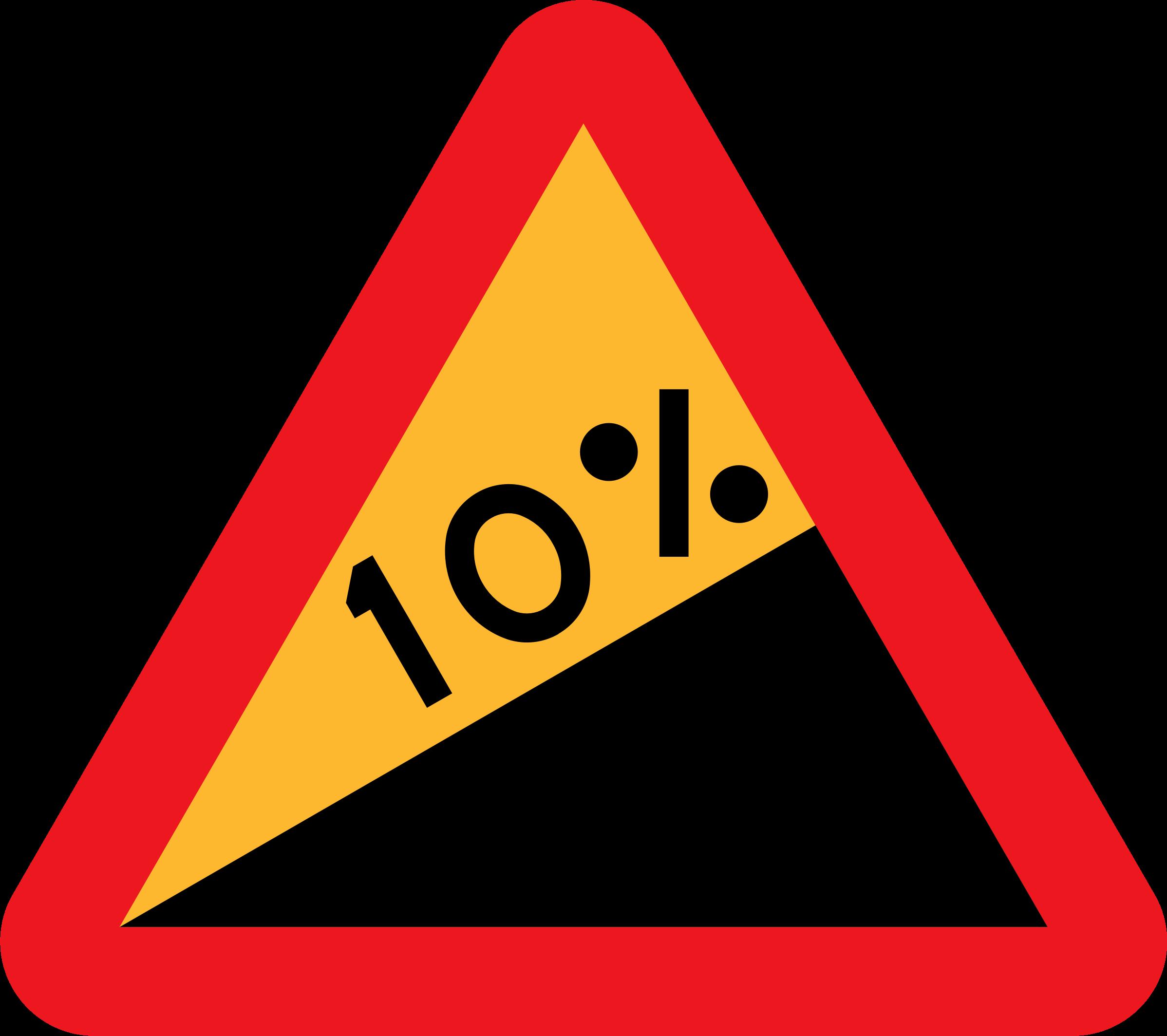 Clipart 10 Upward Gradient Roadsign