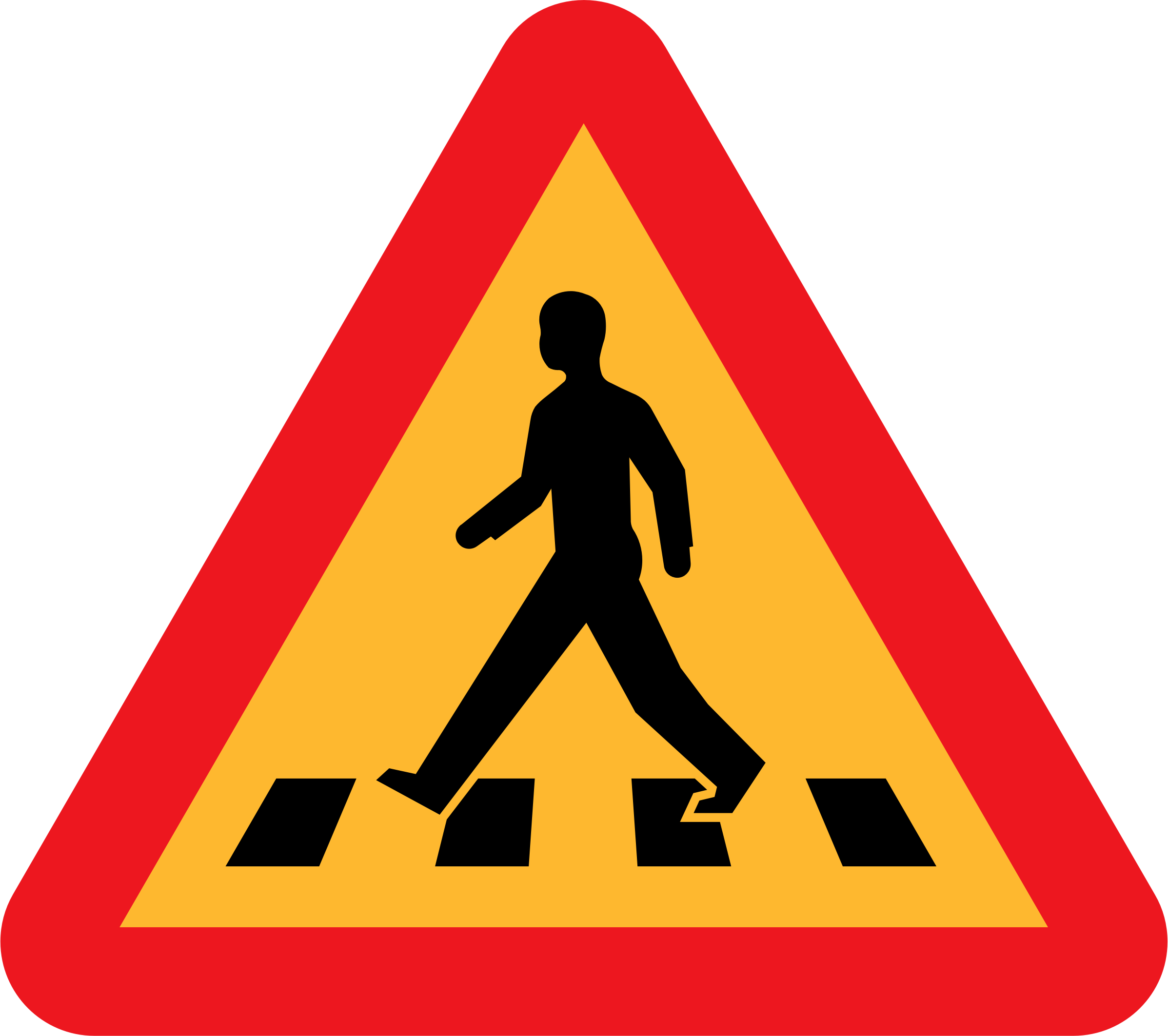 clipart pedestrian crossing sign