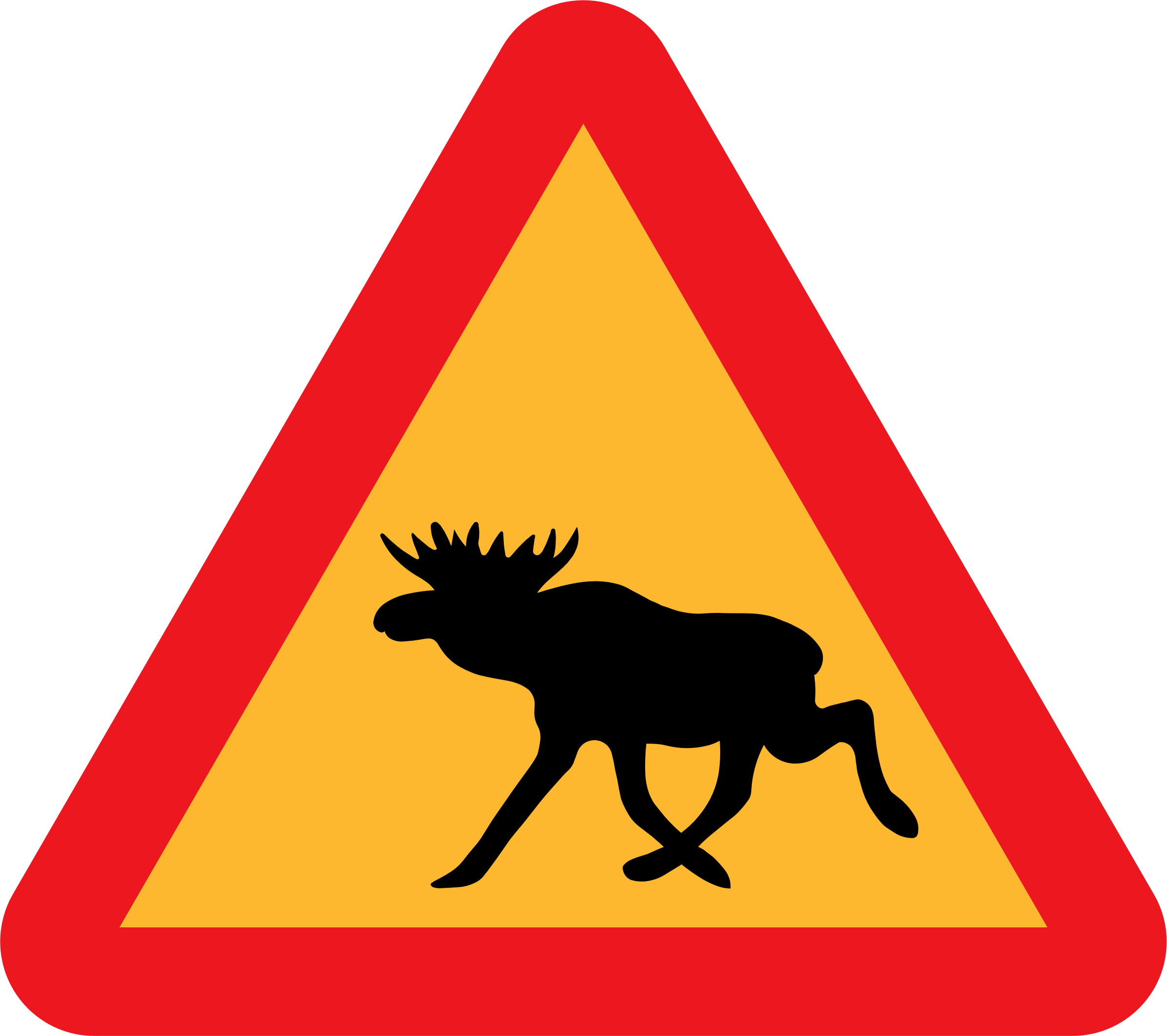 Warning Moose Roadsign by ryanlerch