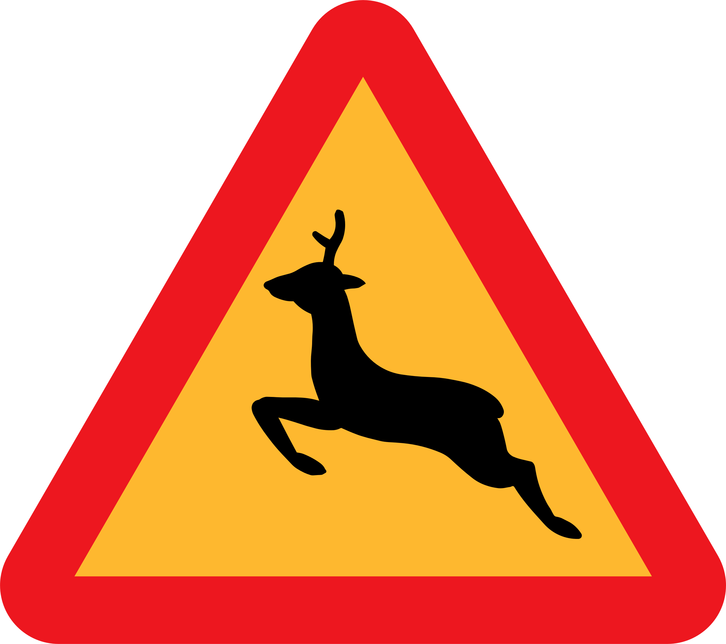 Warning Deer Roadsign by ryanlerch