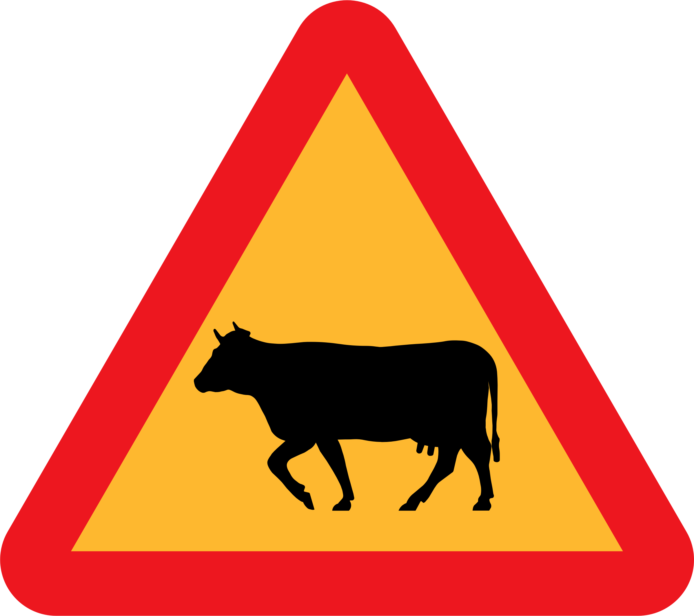Warning Cows Roadsign by ryanlerch