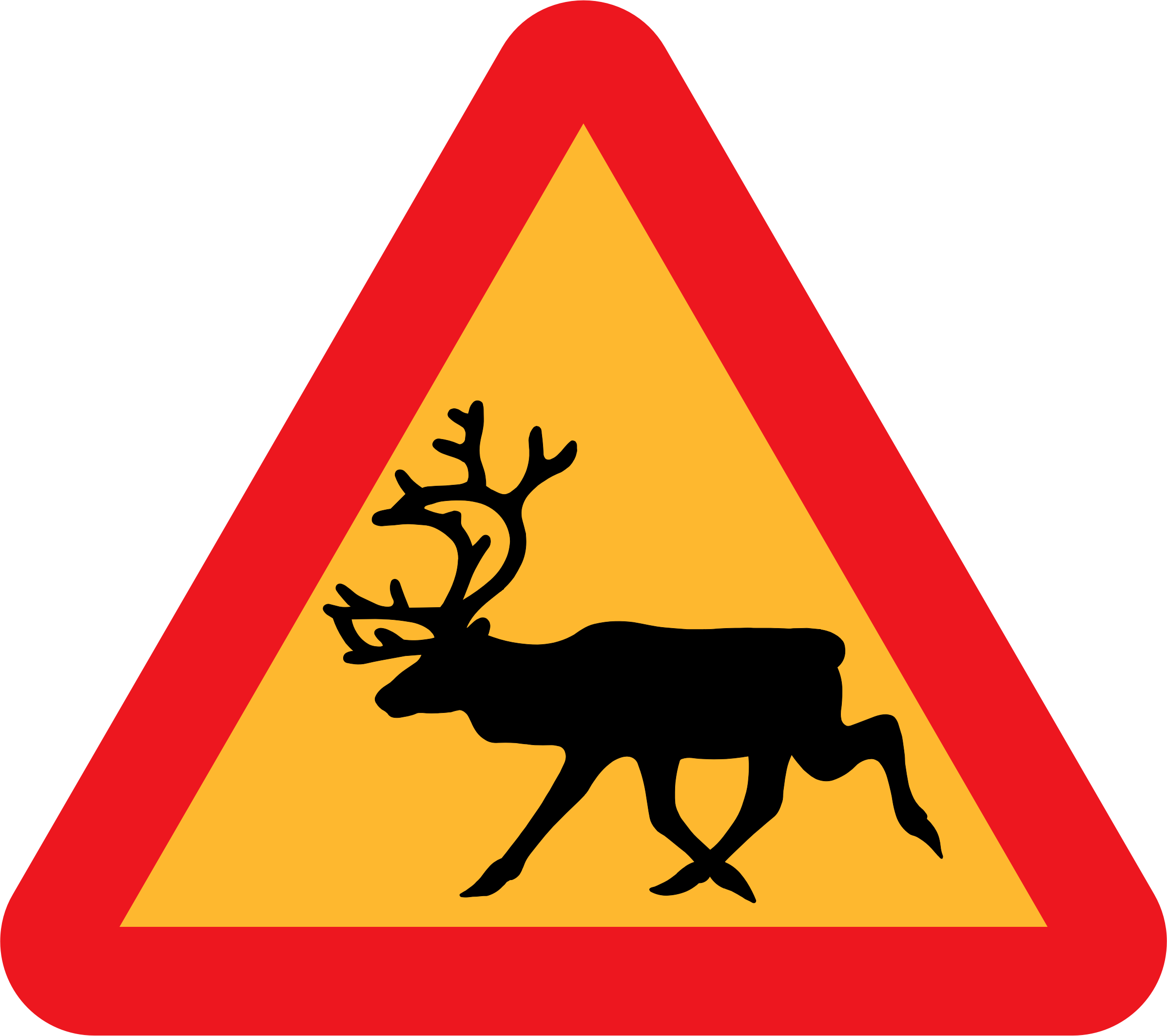 Warning Reindeer Roadsign by ryanlerch