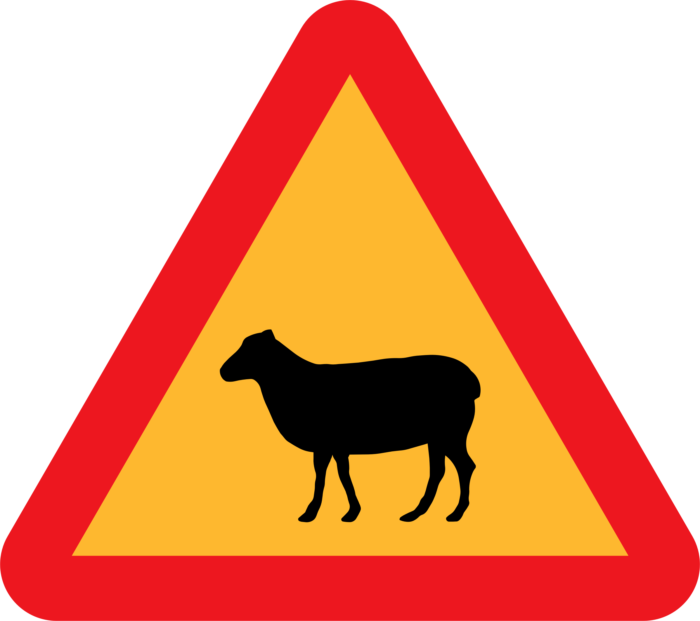 Warning Sheep Roadsign by ryanlerch