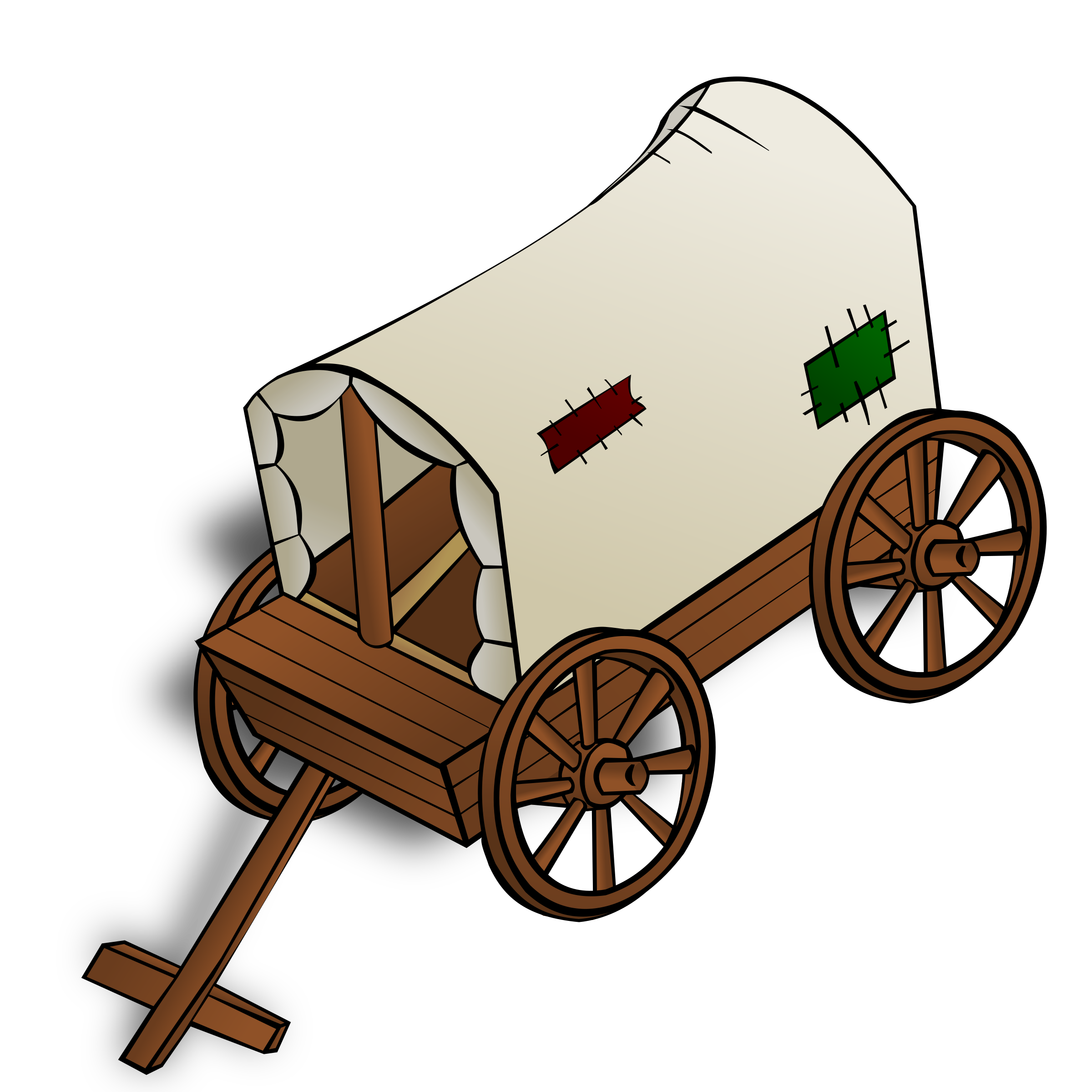RPG map symbols: a caravan by nicubunu