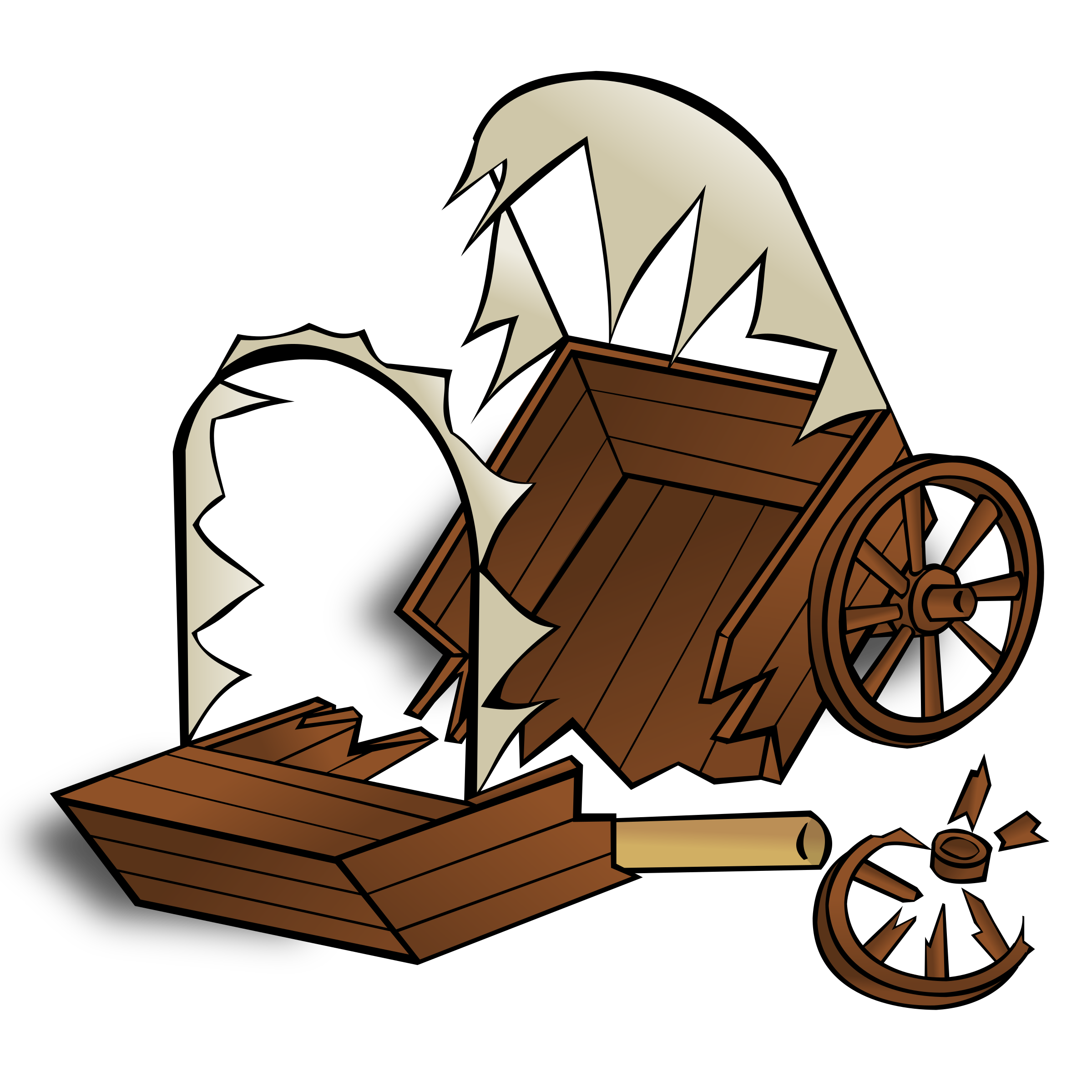 RPG map symbols: caravan wreck by nicubunu