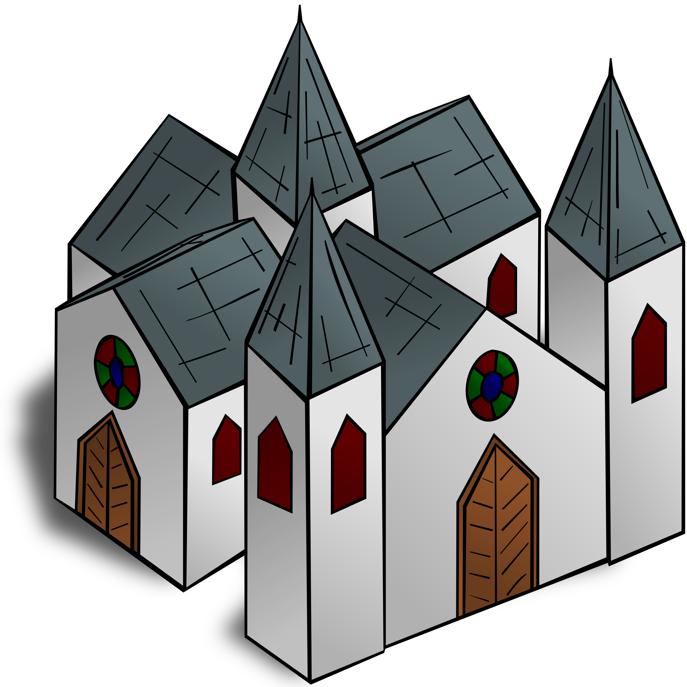 RPG map symbols: Cathedral by nicubunu