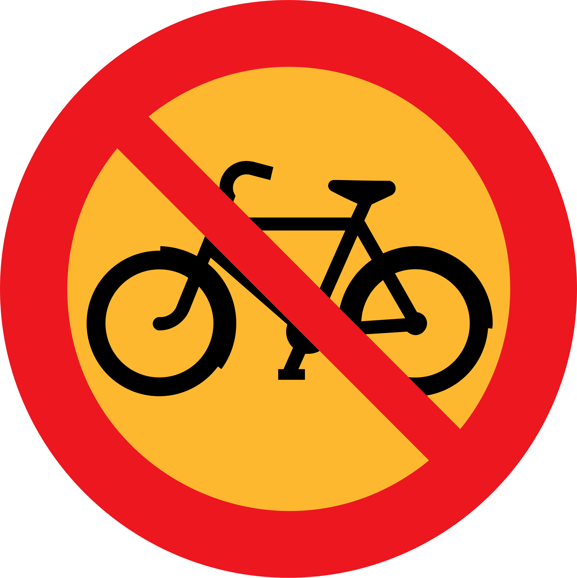 No Bicycles roadsign by ryanlerch