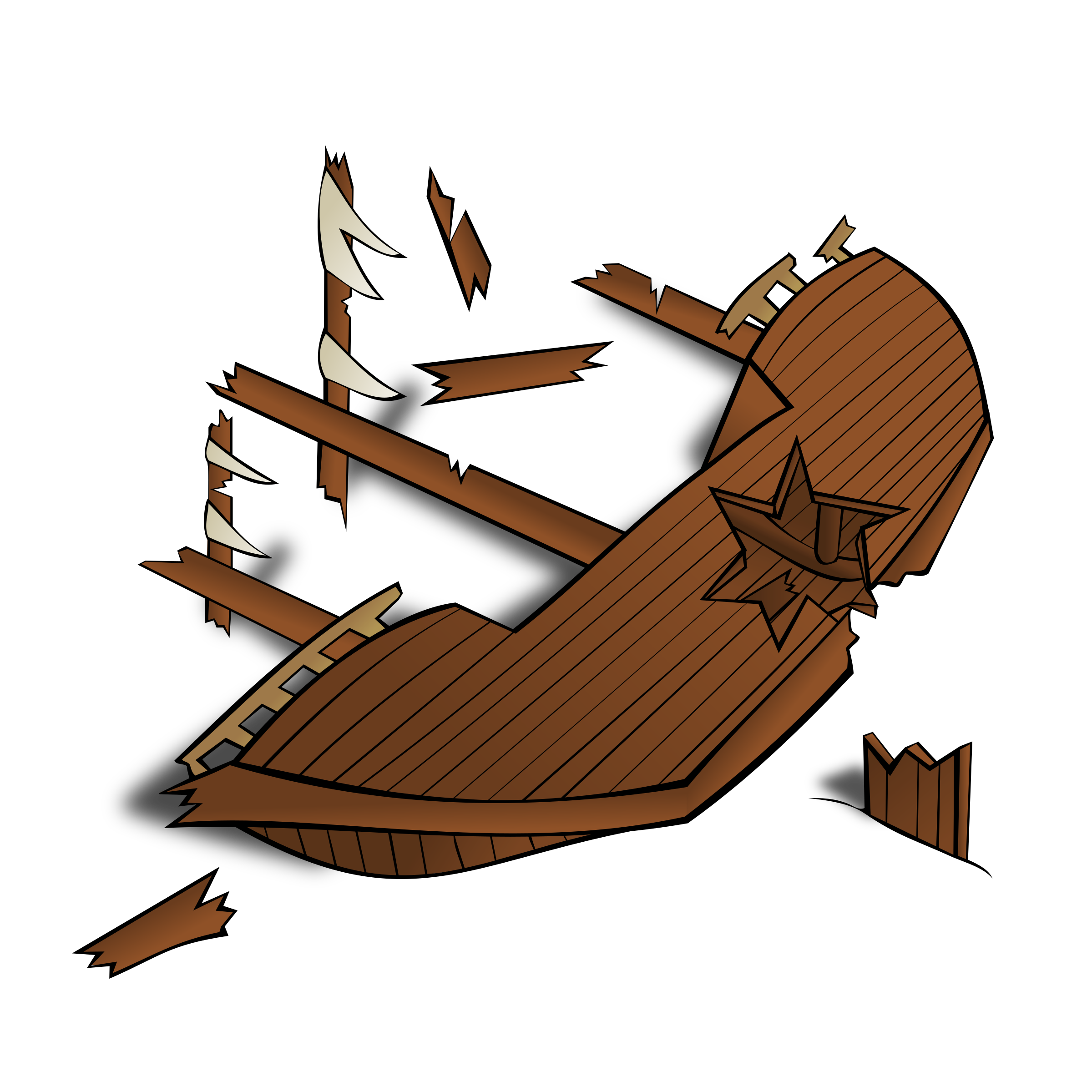 RPG map symbols: Shipwreck by nicubunu