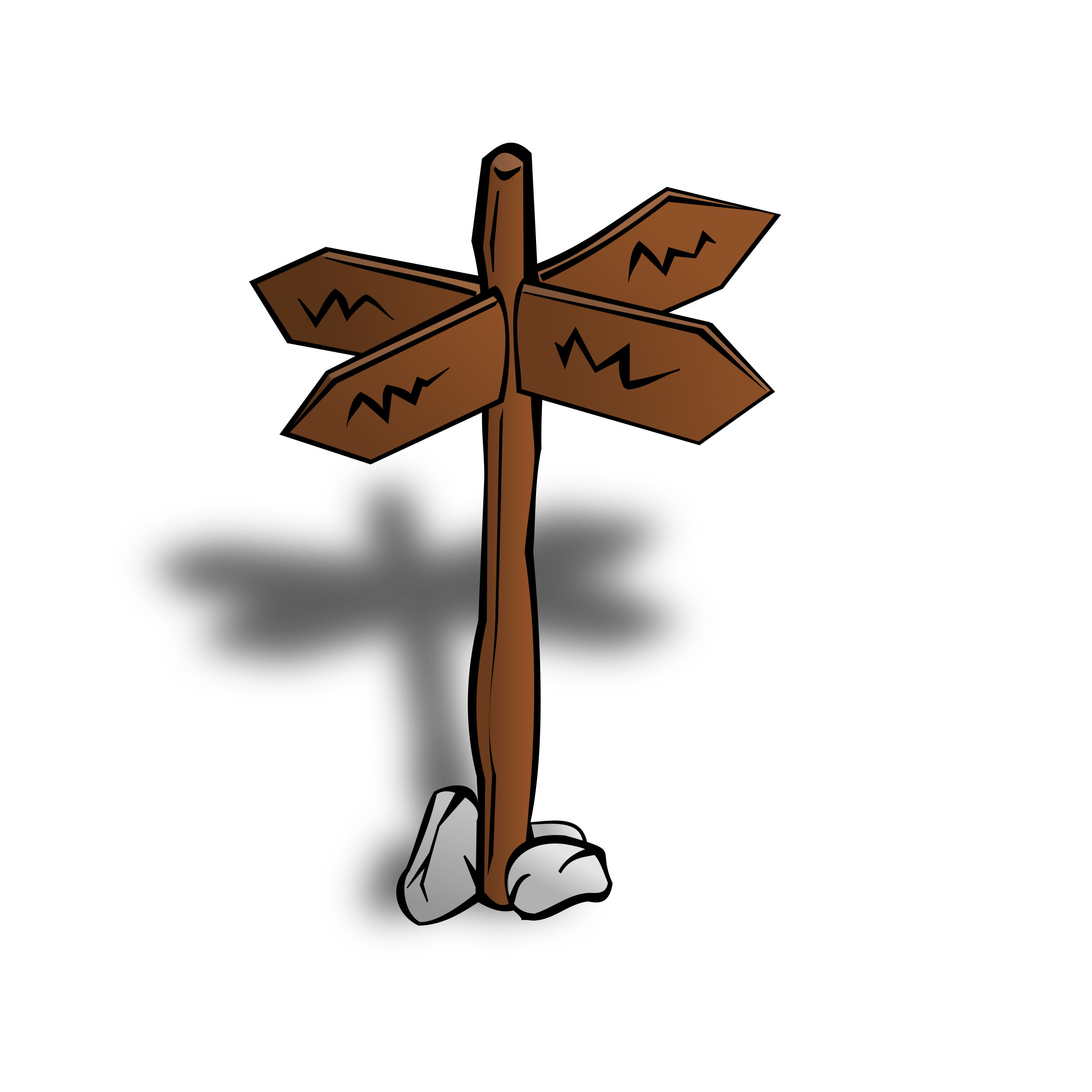 RPG map symbols: Crossroads Sign by nicubunu