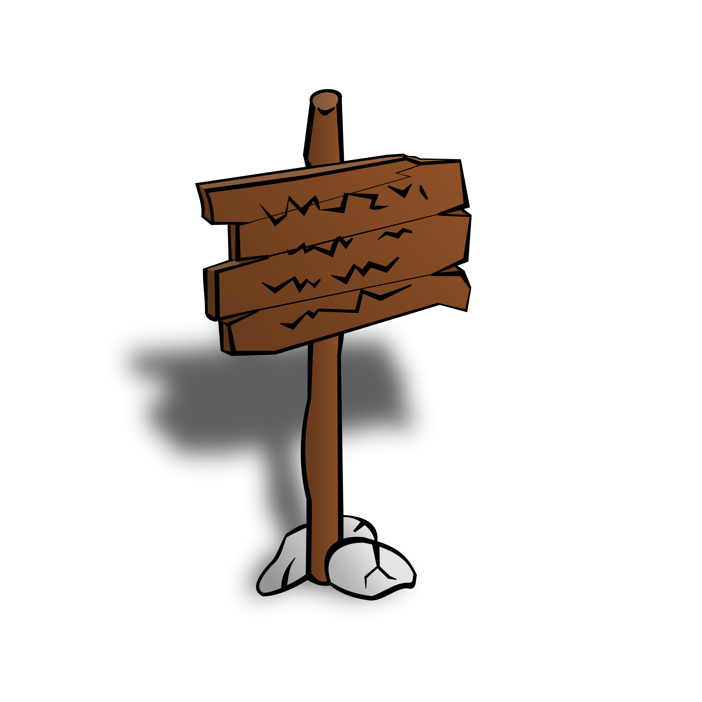RPG map symbols: Sign Post by nicubunu