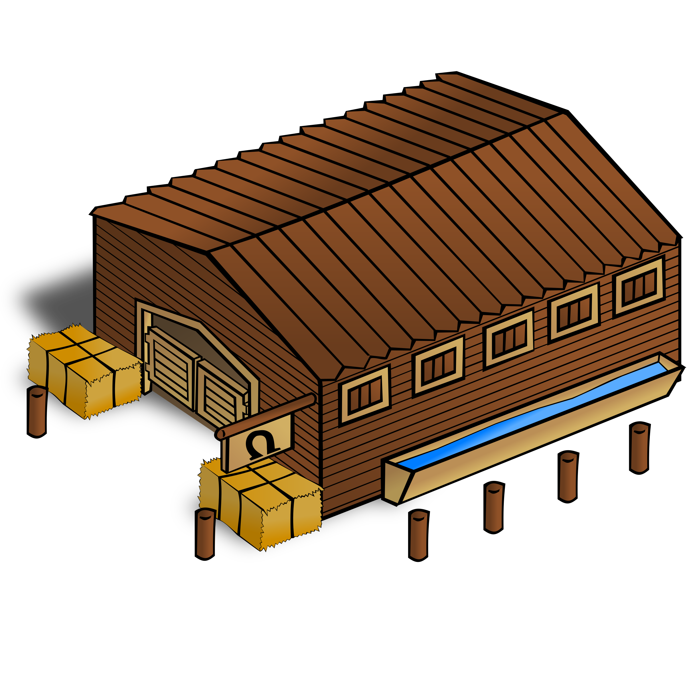 RPG map symbols: Stables by nicubunu